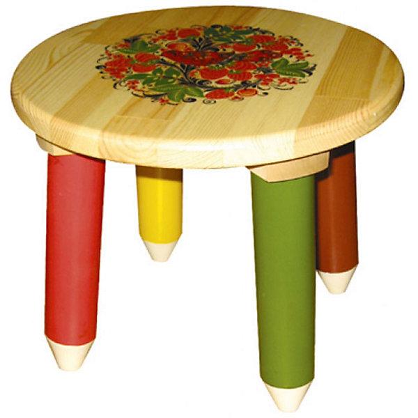 Табурет Светлячок с росписьюДетские столы и стулья<br>Такой сказочный табурет был практически у каждого в детстве, так пусть и вашего ребенка радует!<br>Яркий красочный стульчик прекрасно подойдет к столу, выполненному в такой же стилистике. Роспись сделана по золотому фону традиционными красным и коричневыми цветами. Стул изготовлен из дерева, пропитан льняным маслом и покрыт росписью и безвредным для ребенка лаком. Стул очень прочный и устойчивый, покрытие закалено при особом температурном режиме и не будет отслаиваться или облупливаться при частой влажной уборке.<br><br>Дополнительная информация:<br><br>- Возраст: от 6 мес.<br>- Материал: дерево.<br>- Цвет: орнамент - Хохломская роспись Светлячок.<br>- Параметры стола: Высота: 30 см.<br>                                      Диаметр: 30 см.<br><br>Детский табурет Светлячок с росписью можно купить в нашем магазине.<br><br>Ширина мм: 300<br>Глубина мм: 120<br>Высота мм: 300<br>Вес г: 1800<br>Возраст от месяцев: 24<br>Возраст до месяцев: 84<br>Пол: Унисекс<br>Возраст: Детский<br>SKU: 4718386