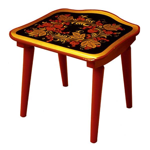 Табурет с росписьюДетские столы и стулья<br>Такой сказочный табурет был практически у каждого в детстве, так пусть и вашего ребенка радует!<br>Яркий красочный стульчик прекрасно подойдет к столу, выполненному в такой же стилистике. Роспись сделана по золотому фону традиционными красным и коричневыми цветами. Стул изготовлен из дерева, пропитан льняным маслом и покрыт росписью и безвредным для ребенка лаком. Стул очень прочный и устойчивый, покрытие закалено при особом температурном режиме и не будет отслаиваться или облупливаться при частой влажной уборке.<br><br>Дополнительная информация:<br><br>- Возраст: от 6 мес.<br>- Материал: дерево.<br>- Цвет: орнамент - Хохломская роспись.<br>- Параметры стола: Высота: 26 см.<br>                                      Длина: 30 см.<br>                                      Ширина: 29 см.<br><br>Детский табурет с росписью можно купить в нашем магазине.<br>Ширина мм: 300; Глубина мм: 120; Высота мм: 300; Вес г: 1600; Возраст от месяцев: 24; Возраст до месяцев: 84; Пол: Унисекс; Возраст: Детский; SKU: 4718387;