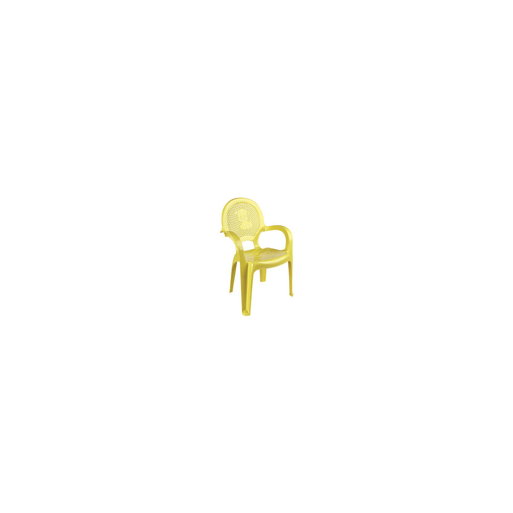Желтый стулЯркий, удобный стульчик для вашего малыша. Изделие изготовлено из высококачественной пластмассы с использованием современных технологий. Все условия для комфорта вашего малыша: спинка высокая, сетчатая, эргономичные подлокотники, форма компактная и удобная для хранения - стулья можно составить один в другой, легко моется водой с любым моющим средством. <br><br>Дополнительная информация:<br><br>Материал: пластик.<br>Размер: высота - 55 см.<br>Цвет: желтый.<br><br>Детский стульчик в желтом цвете, можно купить в нашем магазине.<br><br>Ширина мм: 750<br>Глубина мм: 480<br>Высота мм: 380<br>Вес г: 600<br>Возраст от месяцев: 24<br>Возраст до месяцев: 84<br>Пол: Унисекс<br>Возраст: Детский<br>SKU: 4718401