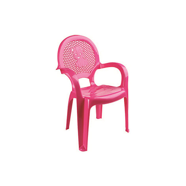 Розовый стулДетские столы и стулья<br>Яркий, удобный стульчик для вашего малыша. Изделие изготовлено из высококачественной пластмассы с использованием современных технологий. Все условия для комфорта вашего малыша: спинка высокая, сетчатая, эргономичные подлокотники, форма компактная и удобная для хранения - стулья можно составить один в другой, легко моется водой с любым моющим средством. <br><br>Дополнительная информация:<br><br>Материал: пластик.<br>Размер: высота - 55 см.<br>Цвет: розовый.<br><br>Детский стульчик в розовом цвете, можно купить в нашем магазине.<br>Ширина мм: 750; Глубина мм: 480; Высота мм: 380; Вес г: 600; Возраст от месяцев: 24; Возраст до месяцев: 84; Пол: Унисекс; Возраст: Детский; SKU: 4718403;