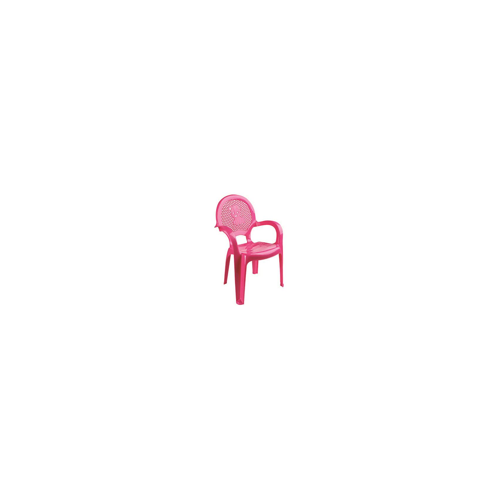 Розовый стулЯркий, удобный стульчик для вашего малыша. Изделие изготовлено из высококачественной пластмассы с использованием современных технологий. Все условия для комфорта вашего малыша: спинка высокая, сетчатая, эргономичные подлокотники, форма компактная и удобная для хранения - стулья можно составить один в другой, легко моется водой с любым моющим средством. <br><br>Дополнительная информация:<br><br>Материал: пластик.<br>Размер: высота - 55 см.<br>Цвет: розовый.<br><br>Детский стульчик в розовом цвете, можно купить в нашем магазине.<br><br>Ширина мм: 750<br>Глубина мм: 480<br>Высота мм: 380<br>Вес г: 600<br>Возраст от месяцев: 24<br>Возраст до месяцев: 84<br>Пол: Унисекс<br>Возраст: Детский<br>SKU: 4718403