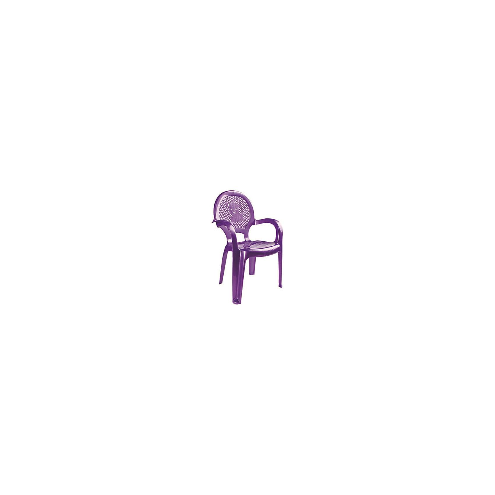Фиолетовый стулМебель<br>Яркий, удобный стульчик для вашего малыша. Изделие изготовлено из высококачественной пластмассы с использованием современных технологий. Все условия для комфорта вашего малыша: спинка высокая, сетчатая, эргономичные подлокотники, форма компактная и удобная для хранения - стулья можно составить один в другой, легко моется водой с любым моющим средством. <br><br>Дополнительная информация:<br><br>Материал: пластик.<br>Размер: высота - 55 см.<br>Цвет: фиолетовый.<br><br>Детский стульчик в фиолетовом цвете, можно купить в нашем магазине.<br><br>Ширина мм: 750<br>Глубина мм: 480<br>Высота мм: 380<br>Вес г: 600<br>Возраст от месяцев: 24<br>Возраст до месяцев: 84<br>Пол: Унисекс<br>Возраст: Детский<br>SKU: 4718408