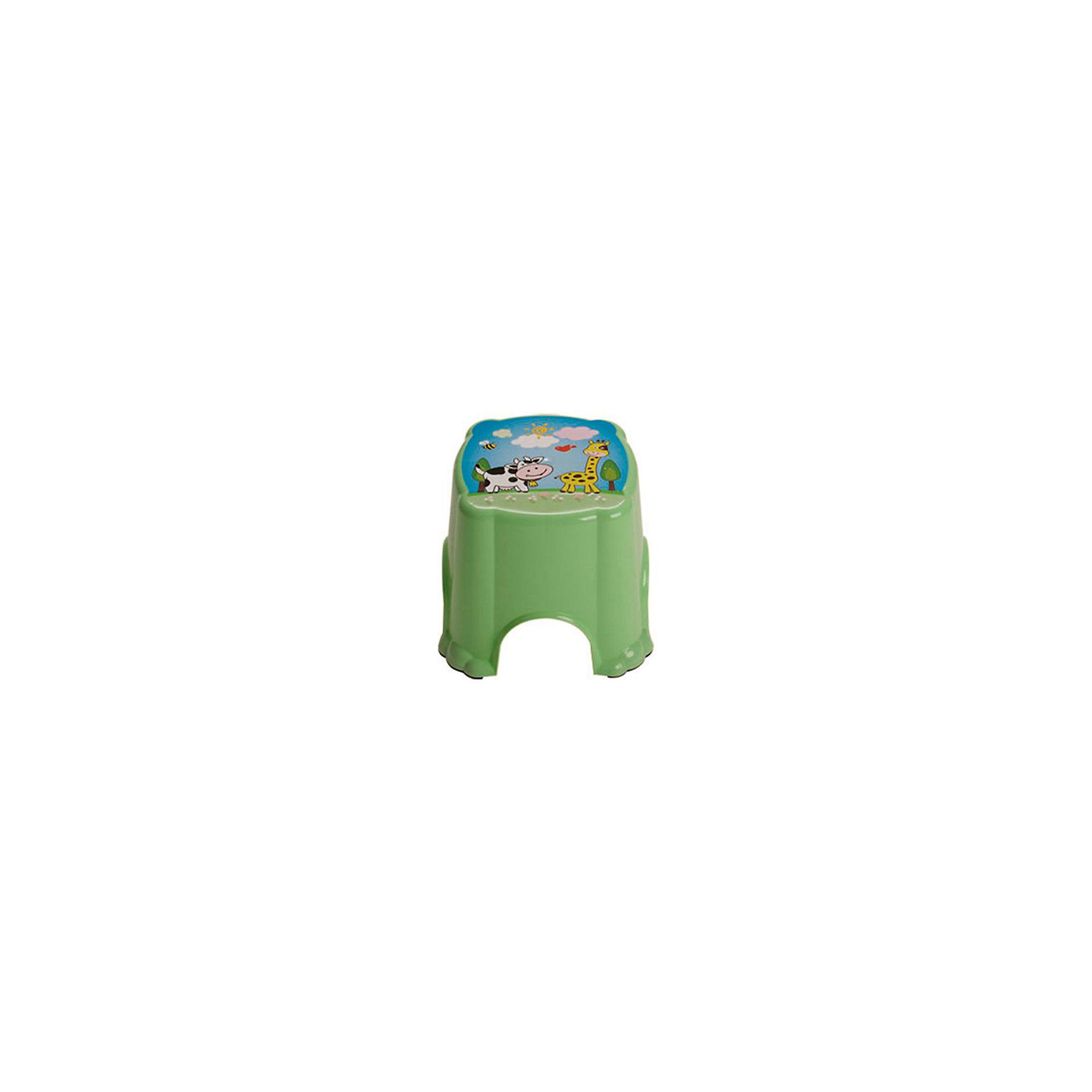 Зеленый табуретДетский табурет из твердой пластмассы поможет малышу самостоятельно умываться и чистить зубы. <br>Сверху используется противоскользящее покрытие, которое обеспечит безопасность вашему ребенку.<br><br>Дополнительная информация:<br><br>Материал: пластик.<br>Цвет: зеленый.<br>Размеры 25,5 x 25,5 x 21 см.<br><br>Детский табурет в зеленом цвете, можно купить в нашем магазине.<br><br>Ширина мм: 750<br>Глубина мм: 480<br>Высота мм: 380<br>Вес г: 300<br>Возраст от месяцев: 24<br>Возраст до месяцев: 84<br>Пол: Унисекс<br>Возраст: Детский<br>SKU: 4718411