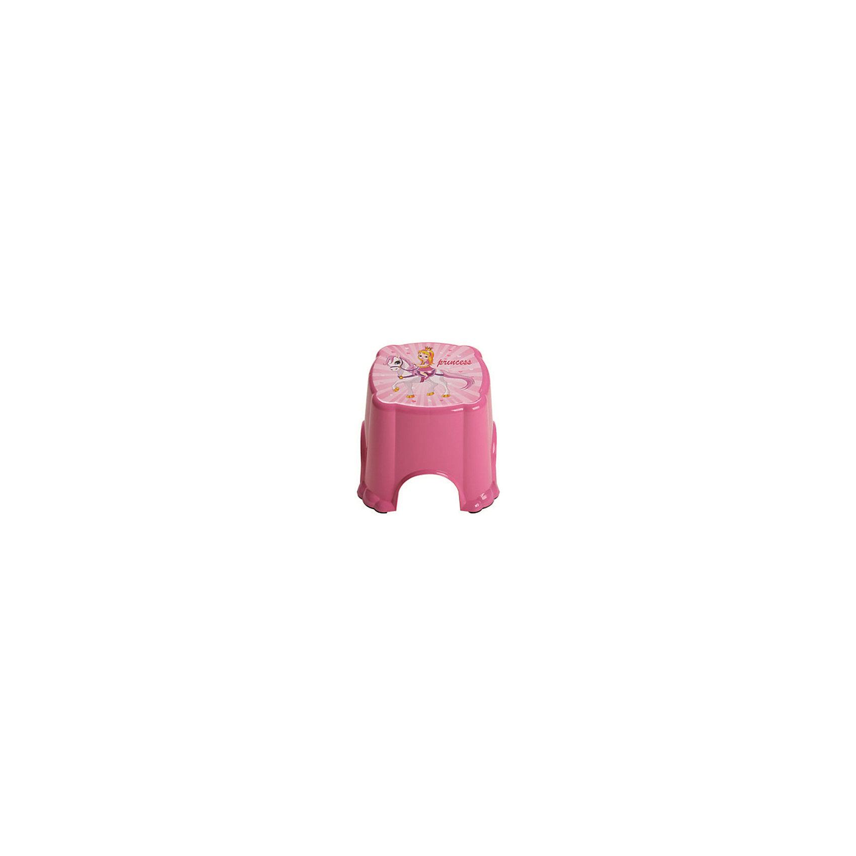 Розовый табурет