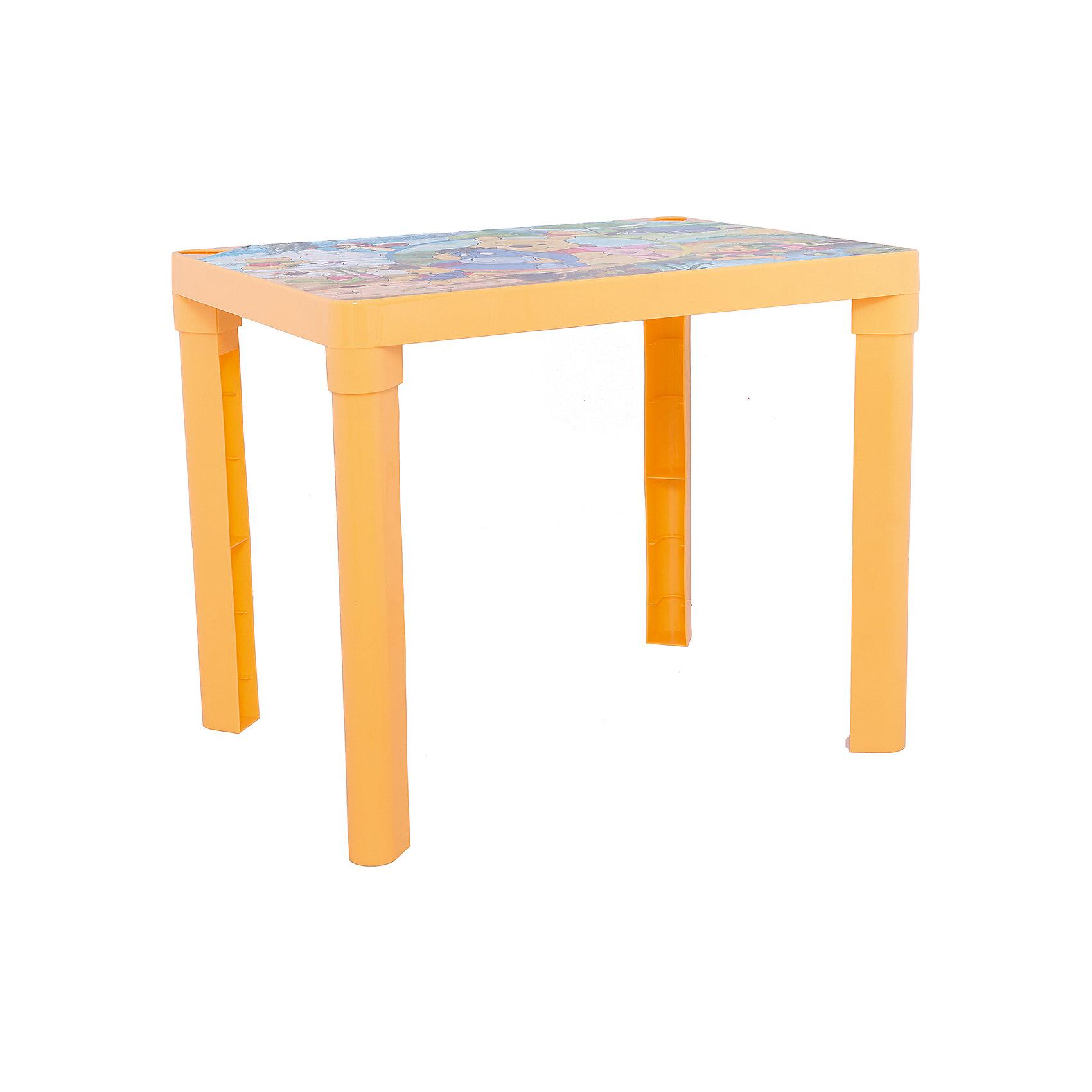 Желтый стол Винни ПухDisney Винни Пух<br>Красочный стол непременно станет неотъемлемым атрибутом в комнате вашего ребенка. Теперь у малыша будет отдельный столик, который идеально подойдет ему по размеру и он сможет приглашать на чаепитие своих друзей, в том числе и плюшевых, а также заниматься творческой работой: рисовать, лепить, раскрашивать и так далее. Благодаря специальным выемкам, на столе можно расположить карандаши, фломастеры, кисточки и другие мелкие предметы, и они не будут мешаться и скатываться. Так же, такой стол можно использовать загородом.<br><br>Дополнительная информация:<br><br>Материал: пластик.<br>Цвет: желтый.<br>Размеры: 60х45х47 см<br> <br>Детский стол Винни в желтом цвете, можно купить в нашем магазине.<br><br>Ширина мм: 600<br>Глубина мм: 450<br>Высота мм: 470<br>Вес г: 1000<br>Возраст от месяцев: 36<br>Возраст до месяцев: 108<br>Пол: Унисекс<br>Возраст: Детский<br>SKU: 4718415