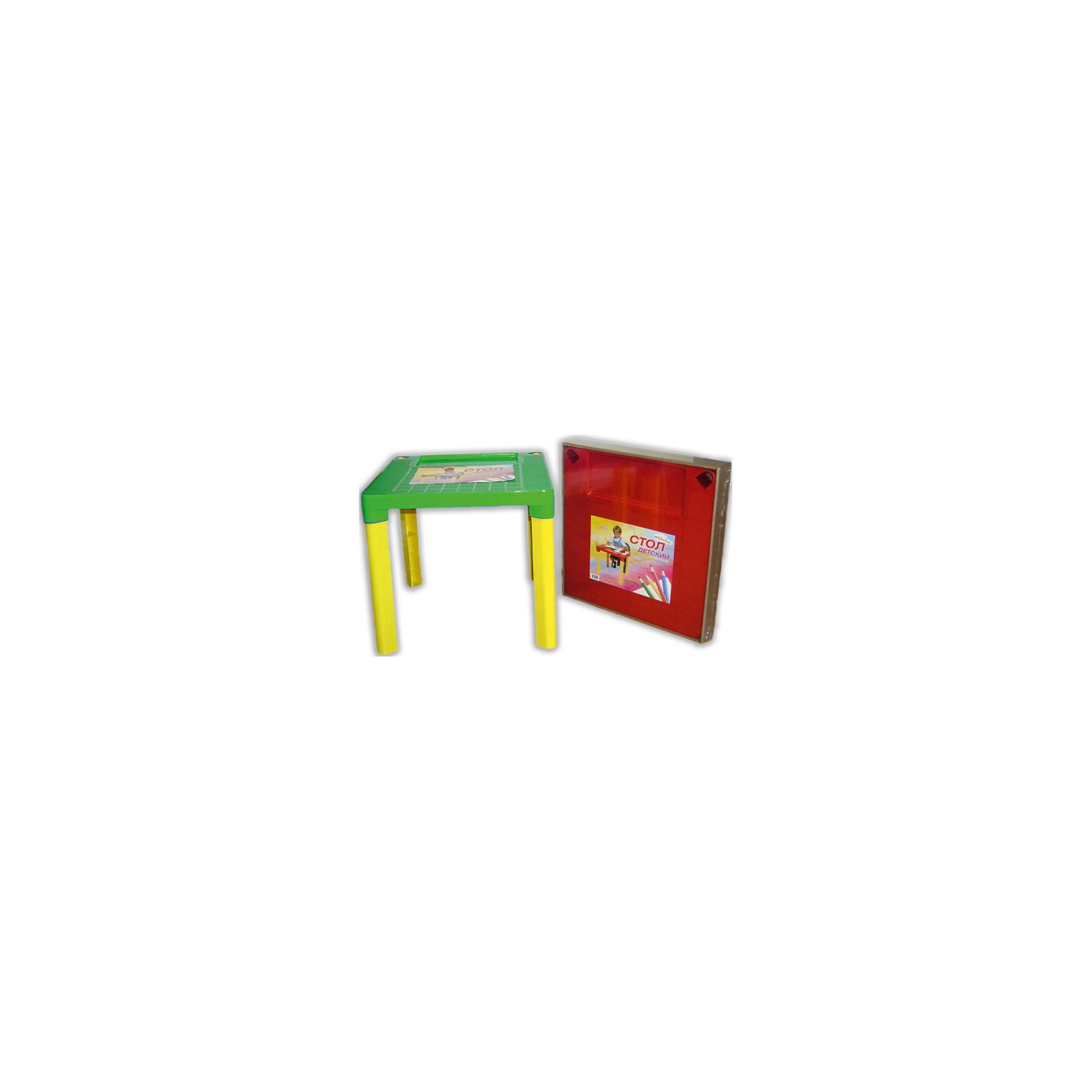 Зелено-желтый стол МалышСтол - незаменимая вещь в детской! Малышам понравится иметь свое собственное место для игр, чаепитий с игрушками и друзьями, занятий и даже обеда. Благодаря специальным выемкам, на столе можно расположить карандаши, фломастеры, кисточки и другие мелкие предметы - они не будут мешаться и скатываться. Столик выполнен из высококачественного прочного пластика, легко моется или протирается влажной губкой. Яркий пластиковый стол с изображениями любимых героев прекрасно впишется в интерьер комнаты и обязательно понравится любому ребенку! <br><br>Дополнительная информация:<br><br>- Материал: пластик.<br>- Высота стола: 47 см.<br>- Размер столешницы: 51х51 см.<br>- Удобные выемки для мелких предметов. <br><br>Детский стол Малыш, зелено-желтый, можно купить в нашем магазине.<br><br>Ширина мм: 510<br>Глубина мм: 510<br>Высота мм: 475<br>Вес г: 1000<br>Возраст от месяцев: 36<br>Возраст до месяцев: 108<br>Пол: Унисекс<br>Возраст: Детский<br>SKU: 4718422
