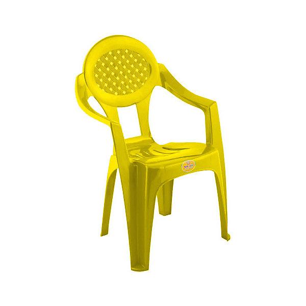 Желтый стул МалышДетские столы и стулья<br>Яркий стульчик прекрасно впишется в интерьер детской комнаты. Стул имеет эргономичную форму, выполнен из высококачественного прочного пластика, его легко мыть или же протирать влажной губкой. <br><br>Дополнительная информация:<br><br>- Материал: пластик.<br>- Размер: 32х28х56 см.<br>- Эргономичная форма. <br><br>Детский стульчик Малыш, желтый, можно купить в нашем магазине.<br><br>Ширина мм: 750<br>Глубина мм: 480<br>Высота мм: 380<br>Вес г: 150<br>Возраст от месяцев: 24<br>Возраст до месяцев: 84<br>Пол: Унисекс<br>Возраст: Детский<br>SKU: 4718427
