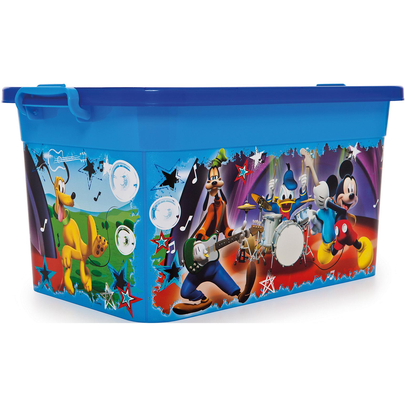Ящик для игрушек Микки Маус, 10лЯркий и удобный ящик с изображениями любимых героев обязательно понравится детям и приучит их к порядку. Ведь убирать вещи и игрушки в такой контейнер - одно удовольствие! Ящик выполнен из высококачественного прочного пластика, плотно закрывается, имеет удобную ручку для переноски. <br><br>Дополнительная информация:<br><br>- Материал: пластик.<br>- Размер: 35,5x23,5x19 см.<br>- Объем: 10 л.<br>- Удобная ручка наверху. <br><br>Ящик для игрушек Микки Маус, 10л, можно купить в нашем магазине.<br><br>Ширина мм: 355<br>Глубина мм: 325<br>Высота мм: 190<br>Вес г: 250<br>Возраст от месяцев: 12<br>Возраст до месяцев: 120<br>Пол: Унисекс<br>Возраст: Детский<br>SKU: 4718436
