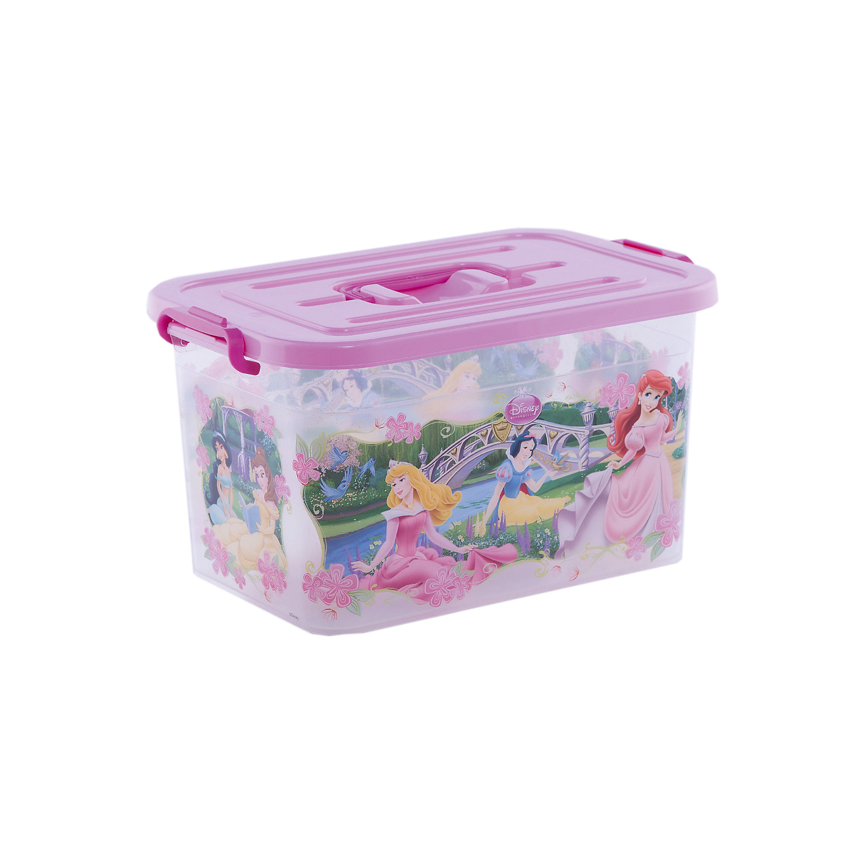 Ящик для игрушек Принцессы, 10лЯркий и удобный ящик с изображениями очаровательных Disney princess (Принцесс Диснея) обязательно понравится девочкам и приучит ребенка к порядку. Ведь убирать вещи и игрушки в такой контейнер - одно удовольствие! Ящик выполнен из высококачественного прочного пластика, плотно закрывается, имеет удобную ручку для переноски. <br><br>Дополнительная информация:<br><br>- Материал: пластик.<br>- Размер: 35,5x23,5x19 см.<br>- Объем: 10 л.<br>- Удобная ручка наверху. <br><br>Ящик для игрушек Принцессы, 10л, можно купить в нашем магазине.<br><br>Ширина мм: 9999<br>Глубина мм: 9999<br>Высота мм: 9999<br>Вес г: 250<br>Возраст от месяцев: 12<br>Возраст до месяцев: 120<br>Пол: Унисекс<br>Возраст: Детский<br>SKU: 4718438