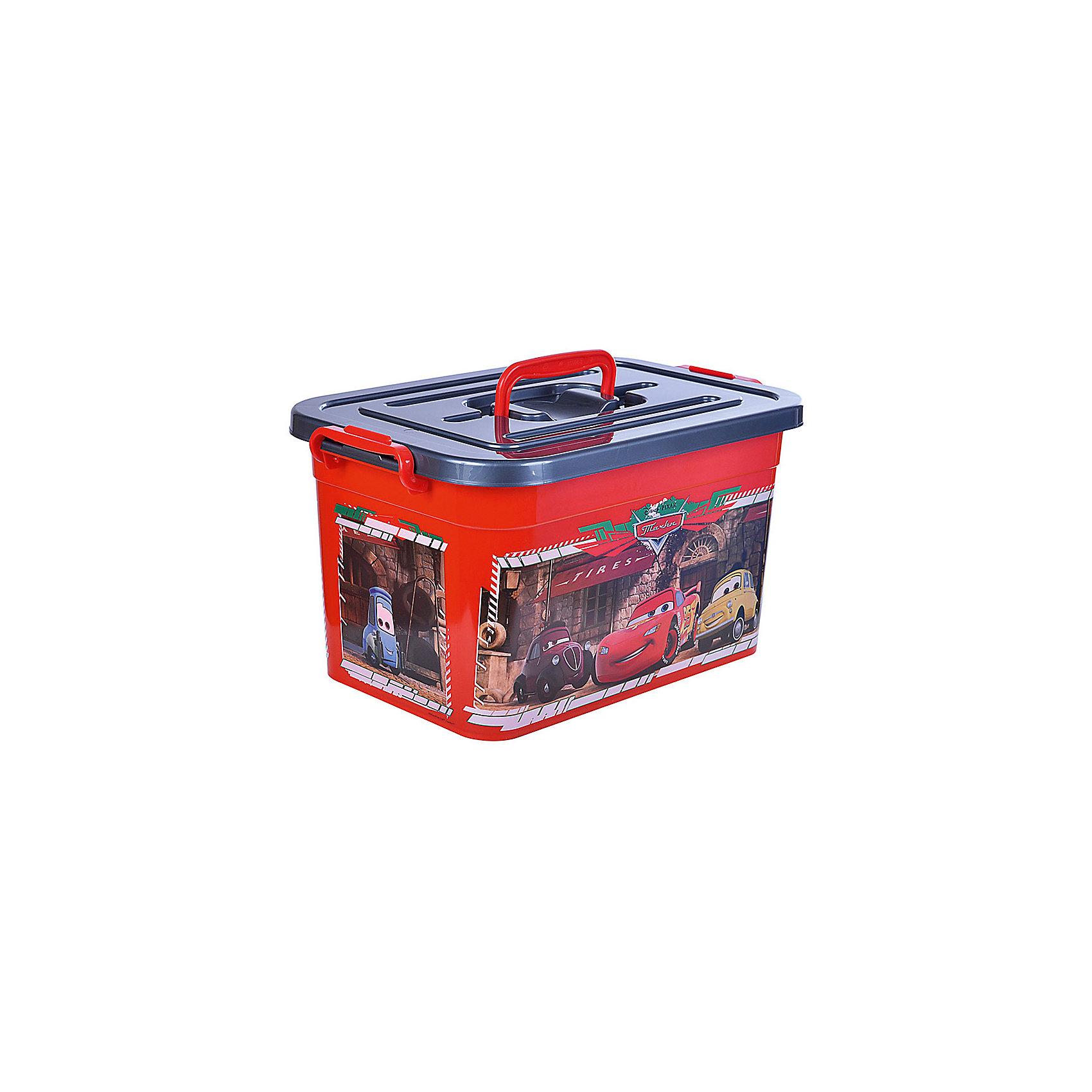 Полимербыт Ящик для игрушек Тачки, 10л