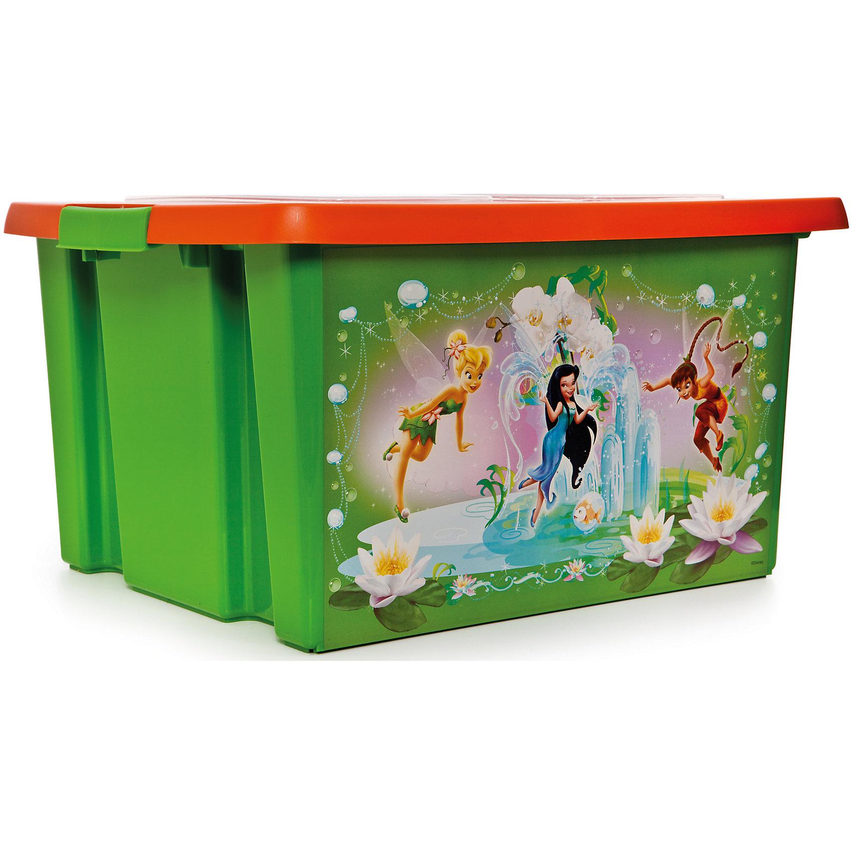 Полимербыт Ящик для игрушек Феи, 15 л ящик для игрушек полимербыт микки маус цвет синий 6 5 л