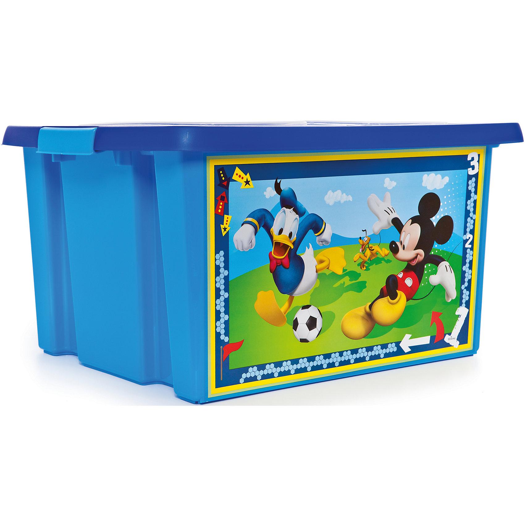 Ящик для игрушек Микки Маус, 30 лЯркий и удобный ящик с изображениями любимых героев обязательно понравится детям и приучит их к порядку. Ведь убирать вещи и игрушки в такой контейнер - одно удовольствие! Вместительный ящик выполнен из высококачественного прочного пластика безопасного для детей. <br><br>Дополнительная информация:<br><br>- Материал: пластик.<br>- Размер: 47х37х25 см.<br>- Объем: 30 л.<br><br>Ящик для игрушек Микки Маус, 30 л, можно купить в нашем магазине.<br><br>Ширина мм: 9999<br>Глубина мм: 9999<br>Высота мм: 9999<br>Вес г: 300<br>Возраст от месяцев: 12<br>Возраст до месяцев: 120<br>Пол: Унисекс<br>Возраст: Детский<br>SKU: 4718453