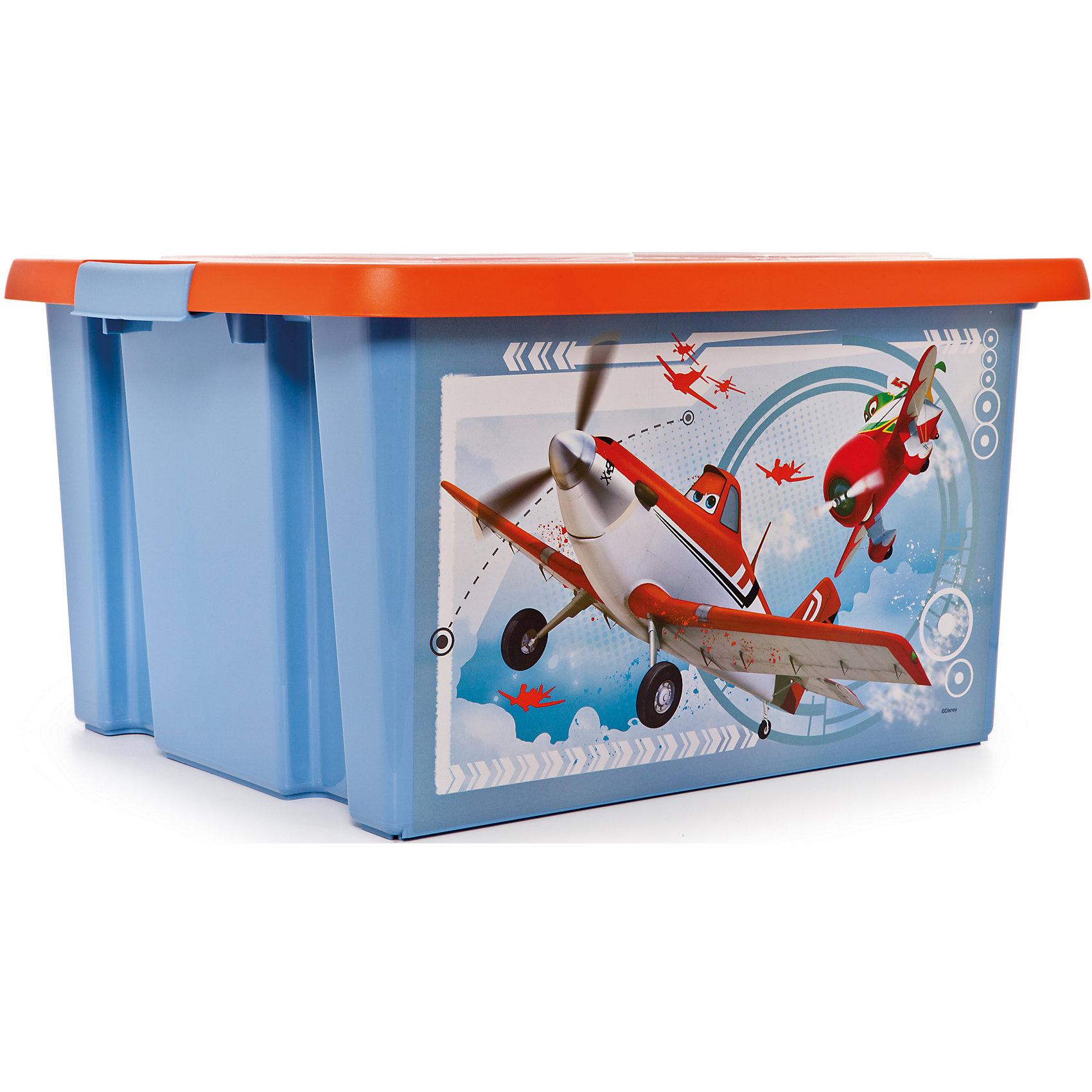 Полимербыт Ящик для игрушек Самолеты, 30 л ящик для игрушек me to you с ручкой новогодний 2 л
