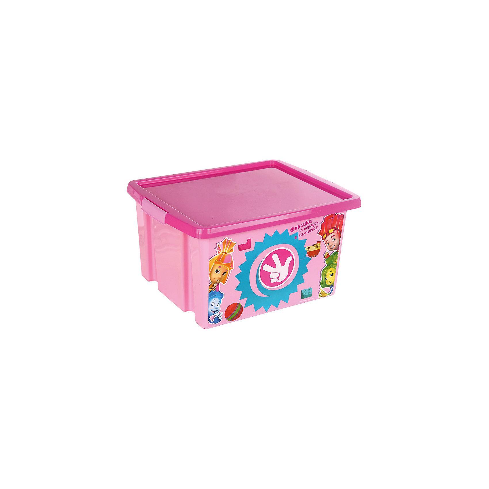 Ящик для игрушек Фиксики, 30 л, розовыйПорядок в детской<br>Яркий и удобный ящик с изображениями любимых героев обязательно понравится детям и приучит их к порядку. Ведь убирать вещи и игрушки в такой контейнер - одно удовольствие! Вместительный ящик выполнен из высококачественного прочного пластика безопасного для детей. <br><br>Дополнительная информация:<br><br>- Материал: пластик.<br>- Размер: 47х37х25 см.<br>- Объем: 30 л.<br><br>Ящик для игрушек Фиксики, розовый, 30 л, можно купить в нашем магазине.<br><br>Ширина мм: 9999<br>Глубина мм: 9999<br>Высота мм: 9999<br>Вес г: 300<br>Возраст от месяцев: 12<br>Возраст до месяцев: 120<br>Пол: Унисекс<br>Возраст: Детский<br>SKU: 4718459