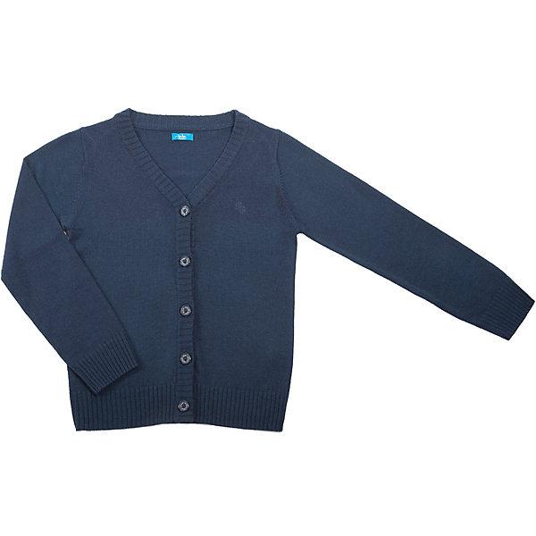 Кардиган для мальчика Button BlueСвитера и кардиганы<br>Жакет для мальчика от известного бренда Button Blue<br>Вязаный жакет - изделие, способное подарить ребенку тепло и комфорт, а также сделать образ более многослойным, что очень модно в предстоящем сезоне. В оформлении модели небольшая фирменная вышивка.<br>Состав:<br>15% шерсть  20% нейлон 65% акрил<br><br>Ширина мм: 190<br>Глубина мм: 74<br>Высота мм: 229<br>Вес г: 236<br>Цвет: синий<br>Возраст от месяцев: 144<br>Возраст до месяцев: 156<br>Пол: Мужской<br>Возраст: Детский<br>Размер: 158,164,152,128,122,134,140,146<br>SKU: 4719122