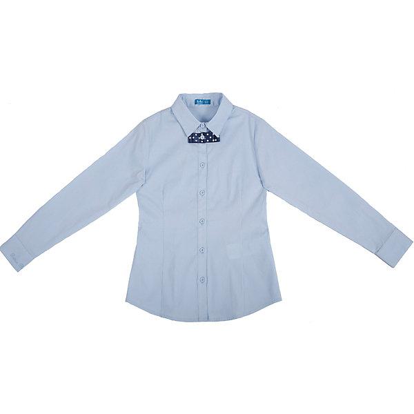 Блузка для девочки Button BlueБлузки и рубашки<br>Блузка для девочки от известного бренда Button Blue<br>Классическая светлая блузка - отличное решение для каждого школьного дня. Небольшая деталь - отстегивающийся бантик в мелкий горошек придает изделию оригинальность.<br>Состав:<br>62% хлопок,  35%нейлон,                3% эластан<br>Ширина мм: 186; Глубина мм: 87; Высота мм: 198; Вес г: 197; Цвет: голубой; Возраст от месяцев: 72; Возраст до месяцев: 84; Пол: Женский; Возраст: Детский; Размер: 122,128,158,146,140,134,152; SKU: 4719146;