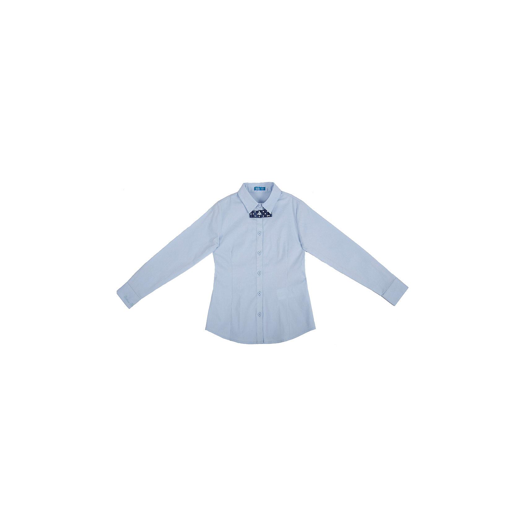 Блузка для девочки Button BlueБлузки и рубашки<br>Блузка для девочки от известного бренда Button Blue<br>Классическая светлая блузка - отличное решение для каждого школьного дня. Небольшая деталь - отстегивающийся бантик в мелкий горошек придает изделию оригинальность.<br>Состав:<br>62% хлопок,  35%нейлон,                3% эластан<br><br>Ширина мм: 186<br>Глубина мм: 87<br>Высота мм: 198<br>Вес г: 197<br>Цвет: голубой<br>Возраст от месяцев: 72<br>Возраст до месяцев: 84<br>Пол: Женский<br>Возраст: Детский<br>Размер: 122,158,152,128,134,140,146<br>SKU: 4719146