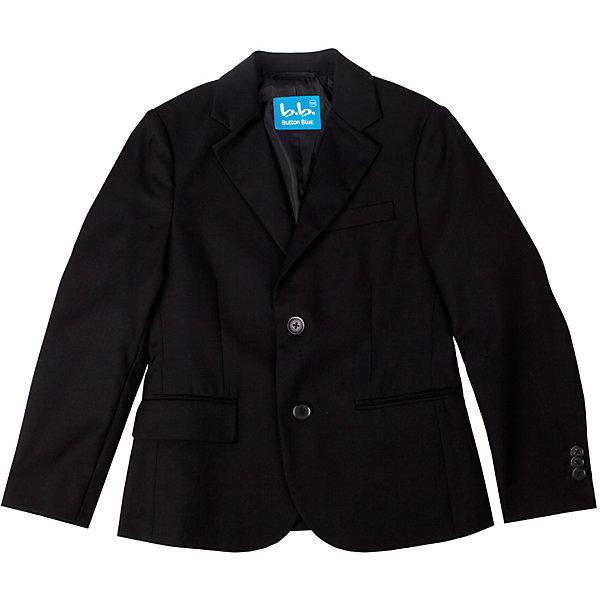 Пиджак для мальчика Button BlueПиджаки и костюмы<br>Пиджак для мальчика от известного бренда Button Blue<br><br>Состав:<br>тк. верха:80% полиэстер,20% вискоза подкл.: 55% вискоза 45% полиэстер<br><br>Ширина мм: 190<br>Глубина мм: 74<br>Высота мм: 229<br>Вес г: 236<br>Цвет: черный<br>Возраст от месяцев: 120<br>Возраст до месяцев: 132<br>Пол: Мужской<br>Возраст: Детский<br>Размер: 146,122,134,140,152,158,128<br>SKU: 4719211