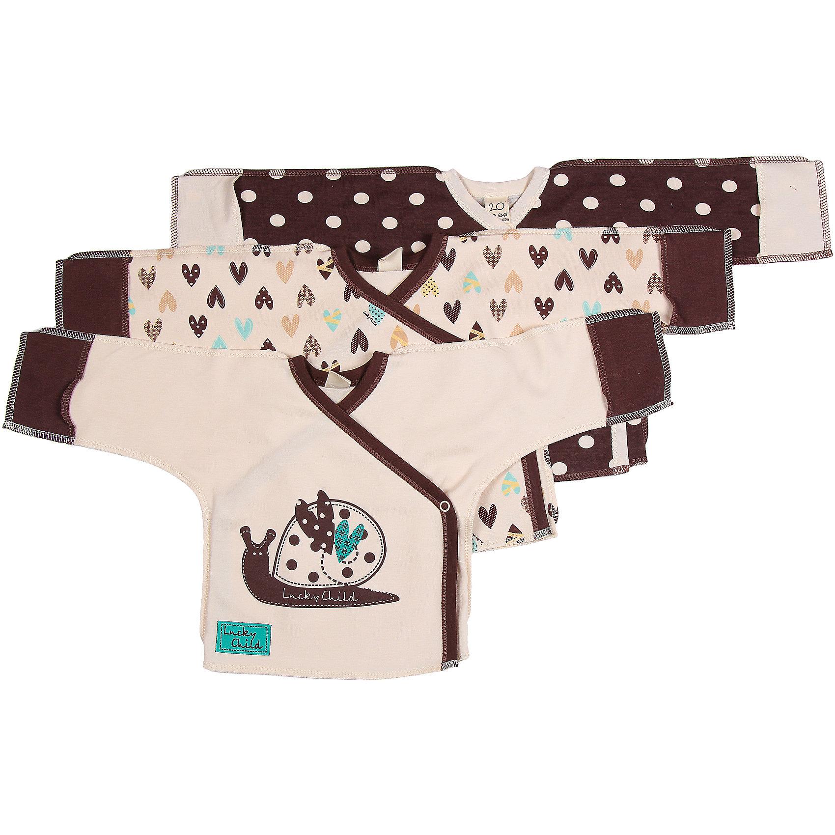 Lucky Child Распашонка для девочки 3шт Lucky Child пижамы lucky child пижама