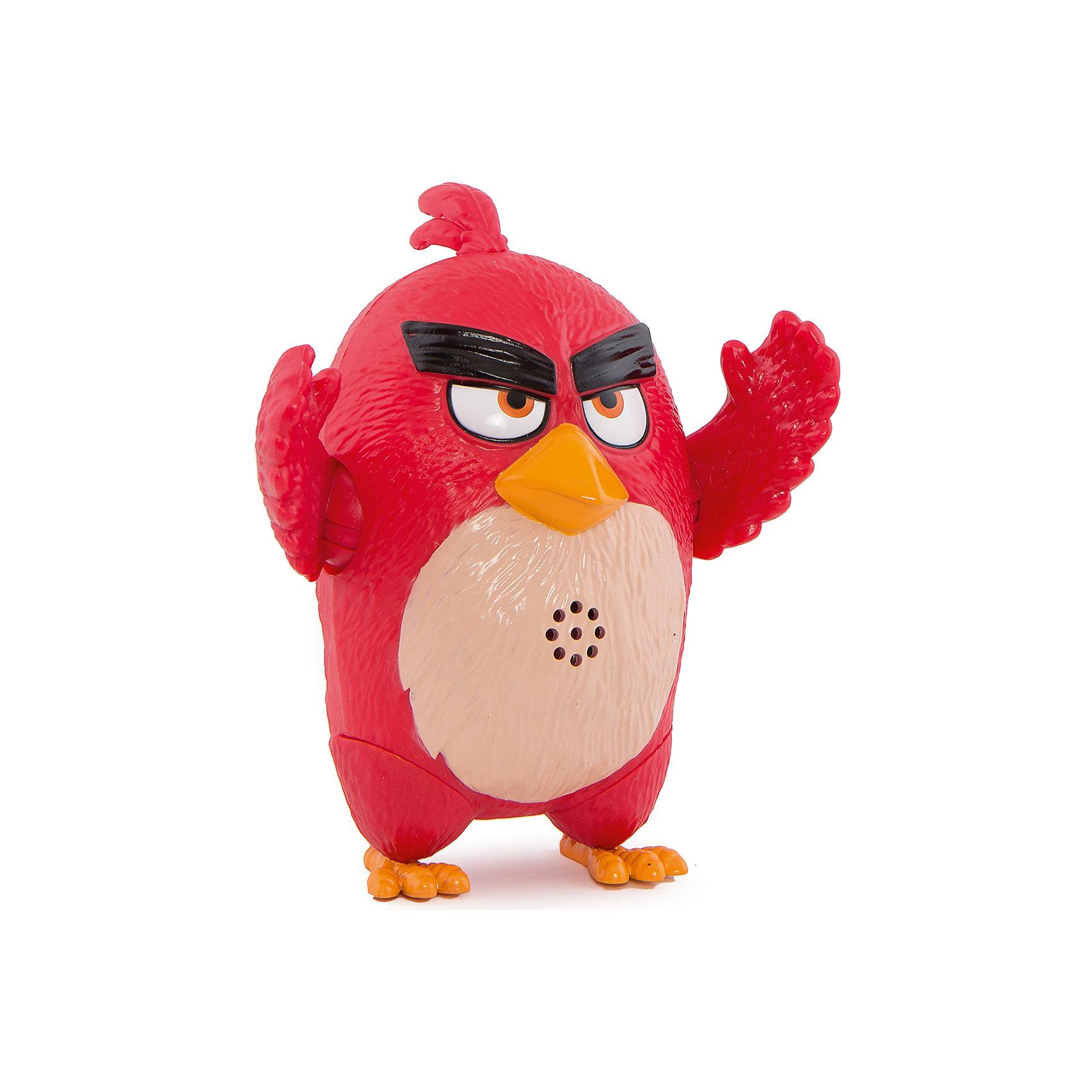 Интерактивная говорящая птица Ред, Angry BirdsЛюбимые герои<br>Замечательная игрушка, созданная специально для поклонников серии компьютерных игр Angry Birds – подвижная фигурка со звуковыми эффектами от компании Spin Master, выполненная в виде главных героев Энгри Бёрдз. Такой подарок, несомненно, оценят не только дети, но и взрослые люди, особенно сейчас, в преддверии выхода полнометражного анимационного фильма про сердитых птичек и их врагов назойливых поросят – «Angry Birds в кино» (The Angry Birds Movie, 2016).<br><br>Фигурки изготовлены из пластика, ярко окрашены, внешний вид игрушек в точности повторяет их прототипов из виртуального мира. Фигурки имеют подвижные конечности и произносят звуки и фразы из мультфильма (на английском языке).<br><br><br>Интерактивную говорящую птицу Ред, Angry Birds можно купить в нашем магазине.<br><br>Ширина мм: 170<br>Глубина мм: 210<br>Высота мм: 110<br>Вес г: 401<br>Возраст от месяцев: 36<br>Возраст до месяцев: 192<br>Пол: Унисекс<br>Возраст: Детский<br>SKU: 4719969