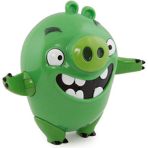 Интерактивная говорящая Свинья, Angry BirdsИгрушки<br>Замечательная игрушка, созданная специально для поклонников серии компьютерных игр Angry Birds – подвижная фигурка со звуковыми эффектами от компании Spin Master, выполненная в виде главных героев Энгри Бёрдз. Такой подарок, несомненно, оценят не только дети, но и взрослые люди, особенно сейчас, в преддверии выхода полнометражного анимационного фильма про сердитых птичек и их врагов назойливых поросят – «Angry Birds в кино» (The Angry Birds Movie, 2016).<br><br>Фигурки изготовлены из пластика, ярко окрашены, внешний вид игрушек в точности повторяет их прототипов из виртуального мира. Фигурки имеют подвижные конечности и произносят звуки и фразы из мультфильма (на английском языке).<br><br><br>Интерактивную говорящую Свинью, Angry Birds можно купить в нашем магазине.<br>Ширина мм: 170; Глубина мм: 210; Высота мм: 110; Вес г: 402; Возраст от месяцев: 36; Возраст до месяцев: 192; Пол: Унисекс; Возраст: Детский; SKU: 4719970;