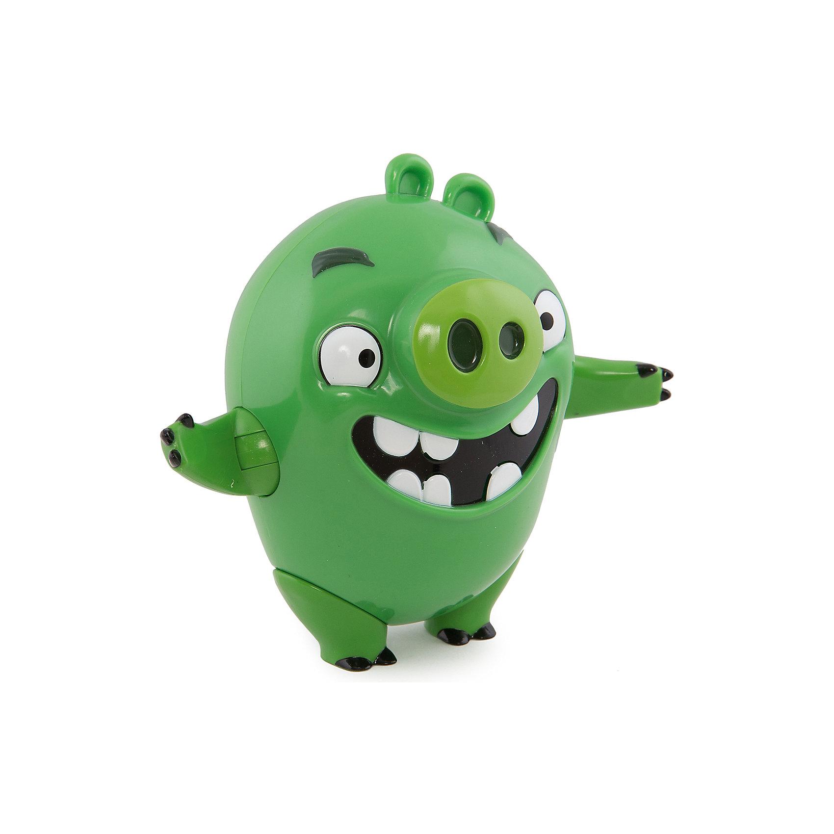 Интерактивная говорящая Свинья, Angry BirdsИгрушки<br>Замечательная игрушка, созданная специально для поклонников серии компьютерных игр Angry Birds – подвижная фигурка со звуковыми эффектами от компании Spin Master, выполненная в виде главных героев Энгри Бёрдз. Такой подарок, несомненно, оценят не только дети, но и взрослые люди, особенно сейчас, в преддверии выхода полнометражного анимационного фильма про сердитых птичек и их врагов назойливых поросят – «Angry Birds в кино» (The Angry Birds Movie, 2016).<br><br>Фигурки изготовлены из пластика, ярко окрашены, внешний вид игрушек в точности повторяет их прототипов из виртуального мира. Фигурки имеют подвижные конечности и произносят звуки и фразы из мультфильма (на английском языке).<br><br><br>Интерактивную говорящую Свинью, Angry Birds можно купить в нашем магазине.<br><br>Ширина мм: 170<br>Глубина мм: 210<br>Высота мм: 110<br>Вес г: 402<br>Возраст от месяцев: 36<br>Возраст до месяцев: 192<br>Пол: Унисекс<br>Возраст: Детский<br>SKU: 4719970