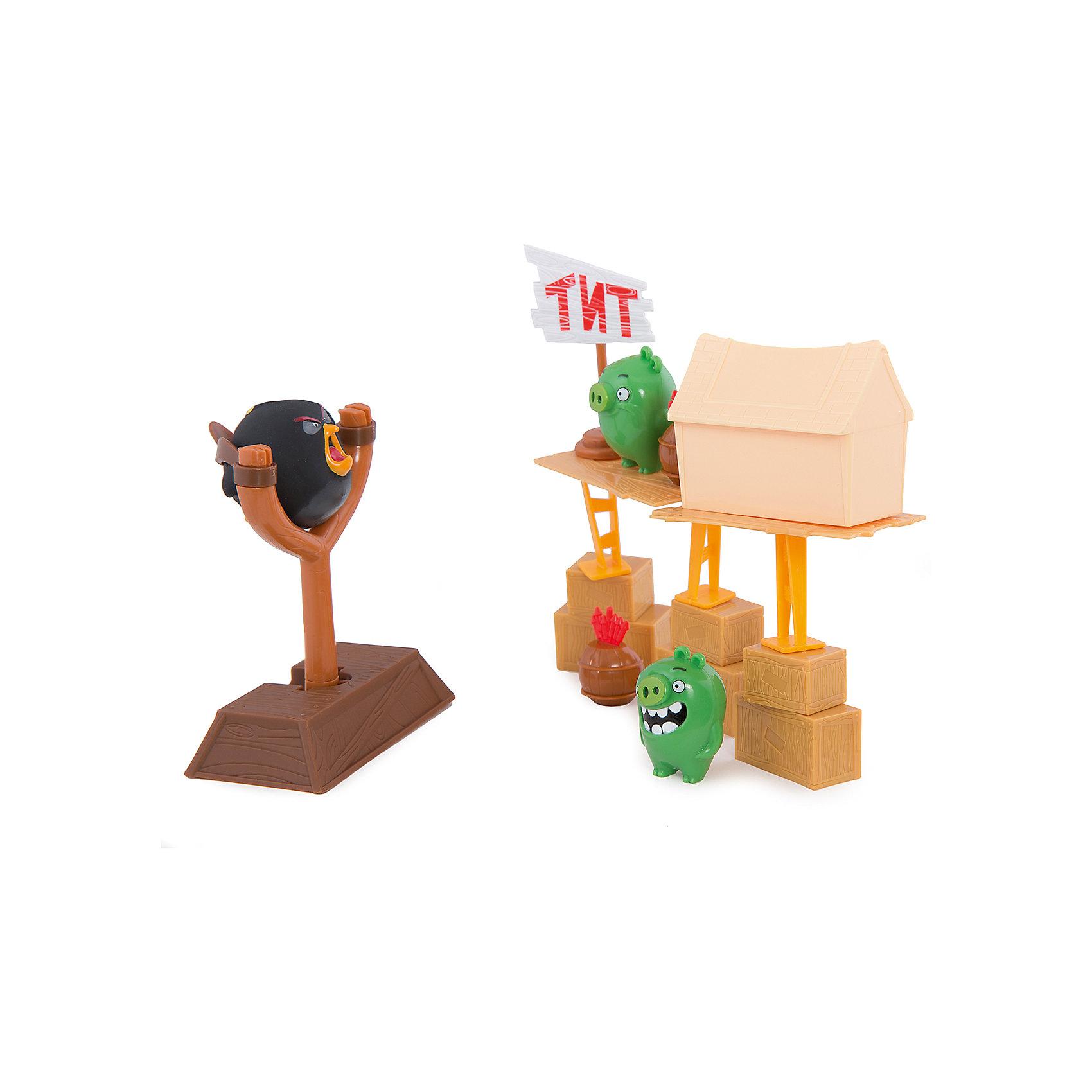 Игровой набор #1 Тир сердитых птичек, Angry BirdsЗамечательная новинка 2016 года от компании Spin Master – игровой набор Angry Birds. В комплект набора входят пластиковые строительные блоки для постройки зелёных поросят и набор наклеек для их украшения, фигурки героев и рогатка для того чтобы запускать сердитых птичек. Все элементы игрушки выполнены из пластика, отлично детализированы, окрашены в яркие цвета. Игровой набор понравится не только поклонникам популярнейшей компьютерной игры Энгри Бердз, но и всем детям без исключения, ведь рушить постройки поросят не в виртуальном, а во вполне реальном мире очень весело!<br><br>Дополнительная информация:<br><br>В наборе: рогатка, две фигурки свинок и фигурку Бомба (черная птичка), кубики-блоки. <br>           <br><br><br>Игровой набор #1 Тир сердитых птичек, Angry Birds можно купить в нашем магазине.<br><br>Ширина мм: 310<br>Глубина мм: 260<br>Высота мм: 70<br>Вес г: 571<br>Возраст от месяцев: 36<br>Возраст до месяцев: 192<br>Пол: Унисекс<br>Возраст: Детский<br>SKU: 4719989