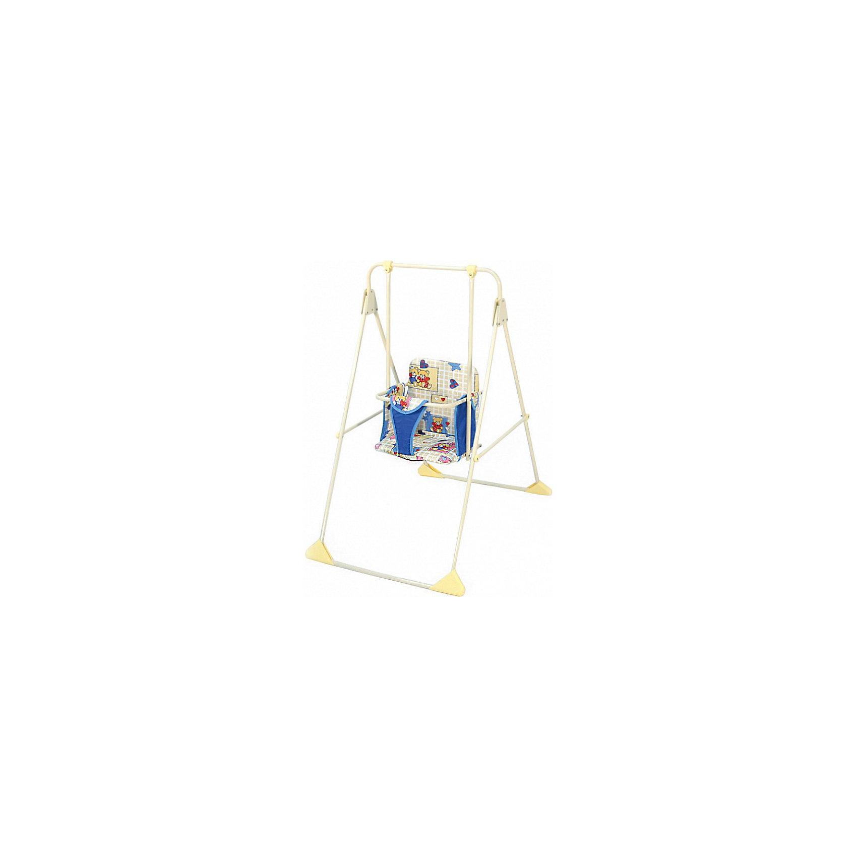 Качели детские Ветерок, Globex, бежевыйНапольные качели Ветерок позволят занять ребенка, не беспокоясь при этом о его безопасности. Яркий цвет качелей привлечет внимание малыша. Эта модель очень удобна: есть система, предохраняющая от выскальзывания ребенка. Сиденье сделано из мягкого материала, который легко мыть.<br>Качели можно легко сложить даже одной рукой! Конструкция  - очень устойчивая, легкая. В сложенном виде занимает минимум места. Изделие произведено из качественных и безопасных для малышей материалов, оно соответствуют всем современным требованиям безопасности.<br> <br>Дополнительная информация:<br><br>цвет: бежевый;<br>материал: металл, пластик;<br>механизм крепежа абсолютно прост и надежен;<br>легко складываются;<br>компактный размер в сложенном виде;<br>мягкая, приятная на ощупь легко моющимся обивка сиденья;<br>в качестве обеспечения безопасности у качелей предусмотрены высокие ограничительные подлокотники;<br>бампер-поручень для ручек ребёнка;<br>широкий мягкий ограничительный ремешок между ножек, для защиты от выскальзывания вниз;<br>окрашивание – порошковое, устойчивое к воздействиям внешней среды;<br>максимальная нагрузка: 15 кг;<br>размер в разложенном состоянии: 56х107х72 см.<br><br>Качели детские Ветерок, бежевый, от компании Globex можно купить в нашем магазине.<br><br>Ширина мм: 1070<br>Глубина мм: 560<br>Высота мм: 490<br>Вес г: 3000<br>Возраст от месяцев: 6<br>Возраст до месяцев: 24<br>Пол: Унисекс<br>Возраст: Детский<br>SKU: 4720001