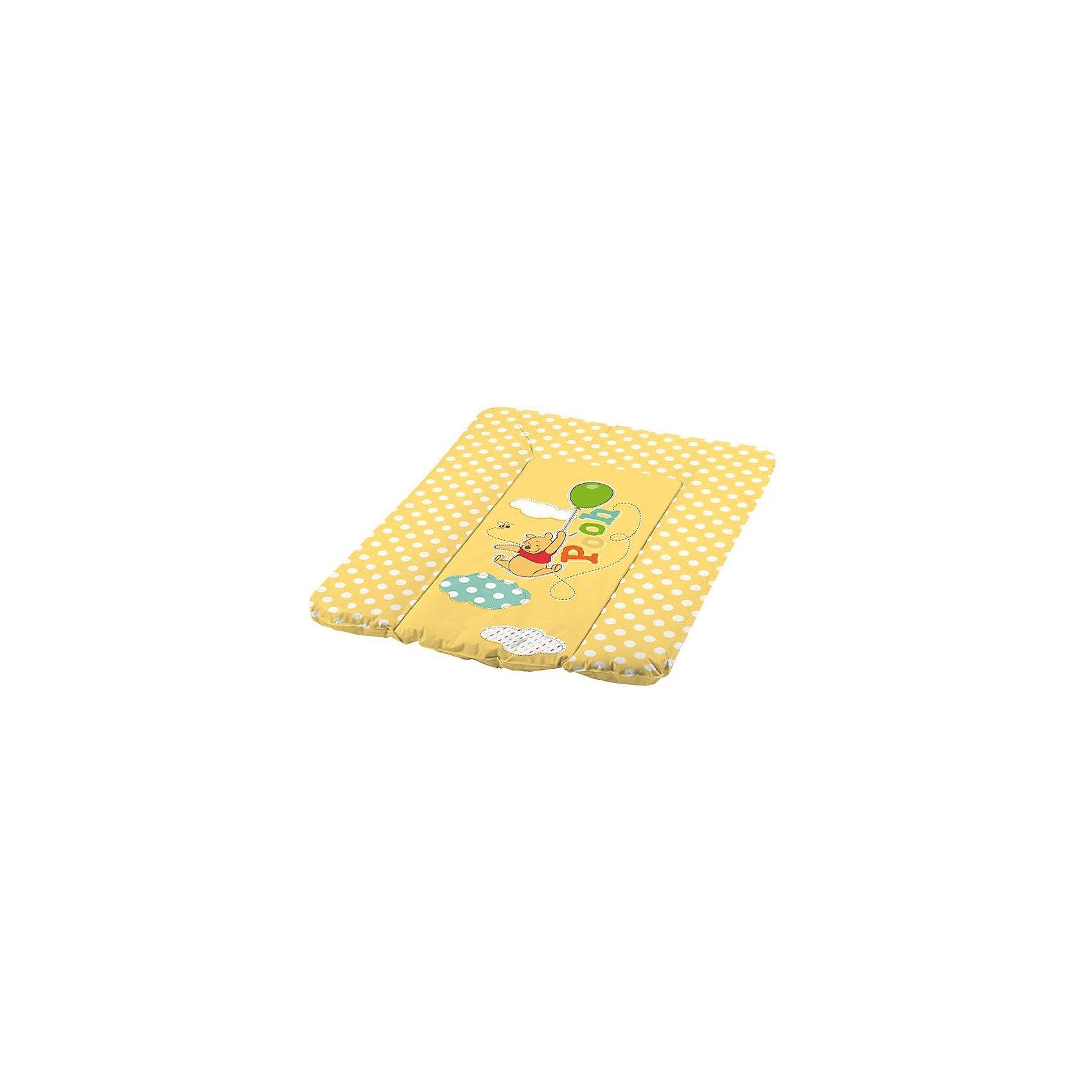 OKT kids Матрас для пеленания DISNEY Винни-Пух, OKT kids, жёлтый disney гирлянда детская на ленте тачки с днем рождения