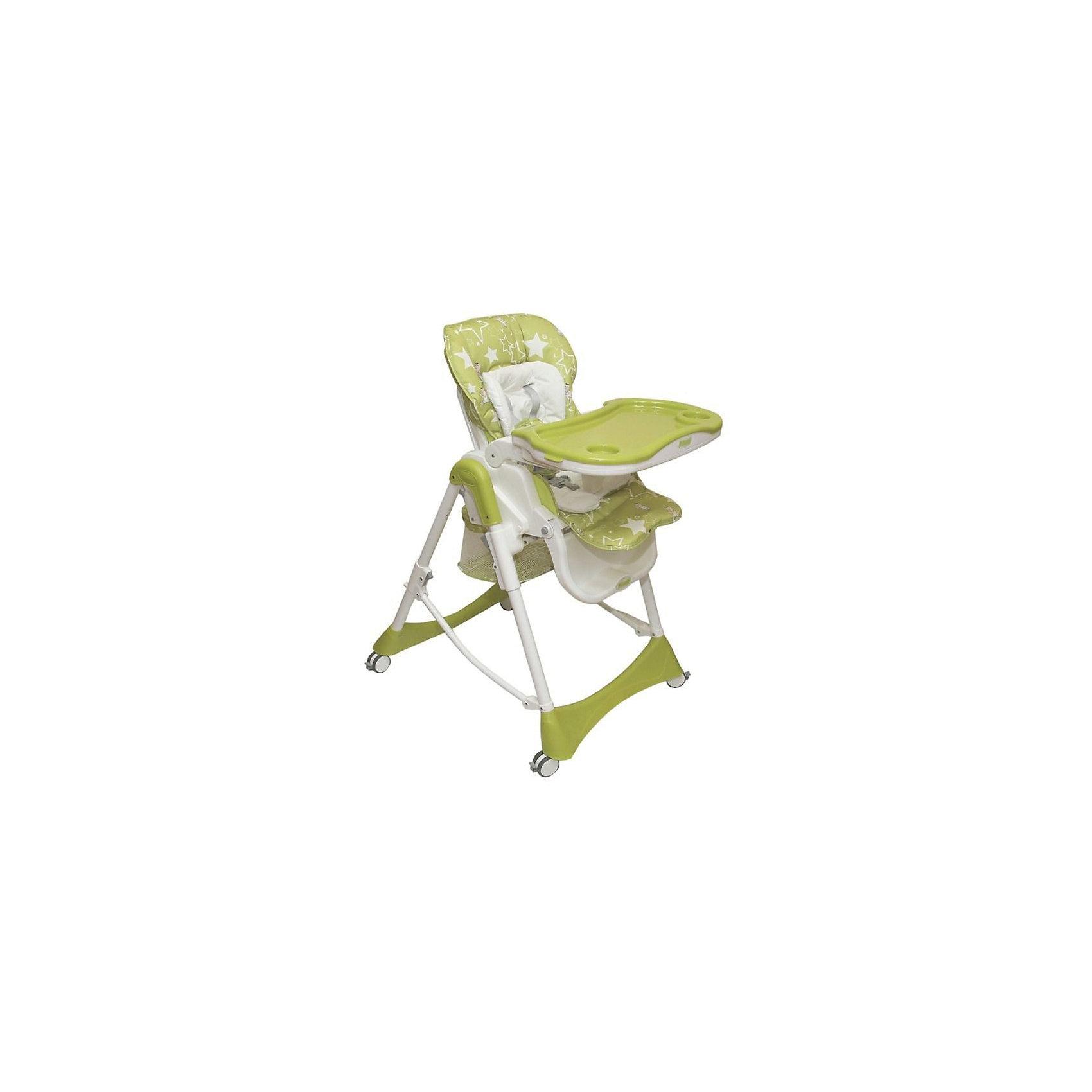 Стульчик для кормления Nana, Pituso, зеленыйКачественный удобный стульчик для кормления Nana позволит посадить ребенка, не беспокоясь при этом о его безопасности. Яркий цвет изделия привлечет внимание малыша. Эта модель очень удобна: есть тканевый чехол с водонепроницаемой пропиткой и мягкий съемный велюровый вкладыш, пятиточечный ремень безопасности. Спинка и уровень высоты сиденья регулируются. Есть корзина для игрушек и подстаканник.<br>Обивка столика устойчива к загрязнениям и легко чистится! Конструкция  - очень устойчивая. Изделие произведено из качественных и безопасных для малышей материалов, оно соответствуют всем современным требованиям безопасности.<br> <br>Дополнительная информация:<br><br>цвет: зеленый;<br>съемный тканевый чехол с водонепроницаемой пропиткой;<br>мягкий съемный велюровый вкладыш;<br>5-ти точечные ремни безопасности;<br>5 уровней высоты сиденья;<br>3 уровня положения спинки, положение лежа ;<br>регулируемая в трех положениях подножка;<br>Четыре колеса облегчают маневрирование<br>тормоз на всех колесах обеспечивает устойчивое положение;<br>съемная регулируемая в трех положениях столешница и съемным подносом;<br>регулировка положения подноса одной рукой;<br>съемный подстаканник;<br>большая, съемная корзина для игрушек;<br>компактно складывается и удобен для хранения;<br>максимальная нагрузка: 20 кг;<br>вес: 10 кг;<br>возраст: от 6 месяцев;<br>размер в разложенном состоянии: 48х27х72,5 см.<br><br>Стульчик для кормления Nana, зеленый, от компании Pituso можно купить в нашем магазине.<br><br>Ширина мм: 475<br>Глубина мм: 265<br>Высота мм: 725<br>Вес г: 10200<br>Возраст от месяцев: 6<br>Возраст до месяцев: 36<br>Пол: Унисекс<br>Возраст: Детский<br>SKU: 4720056