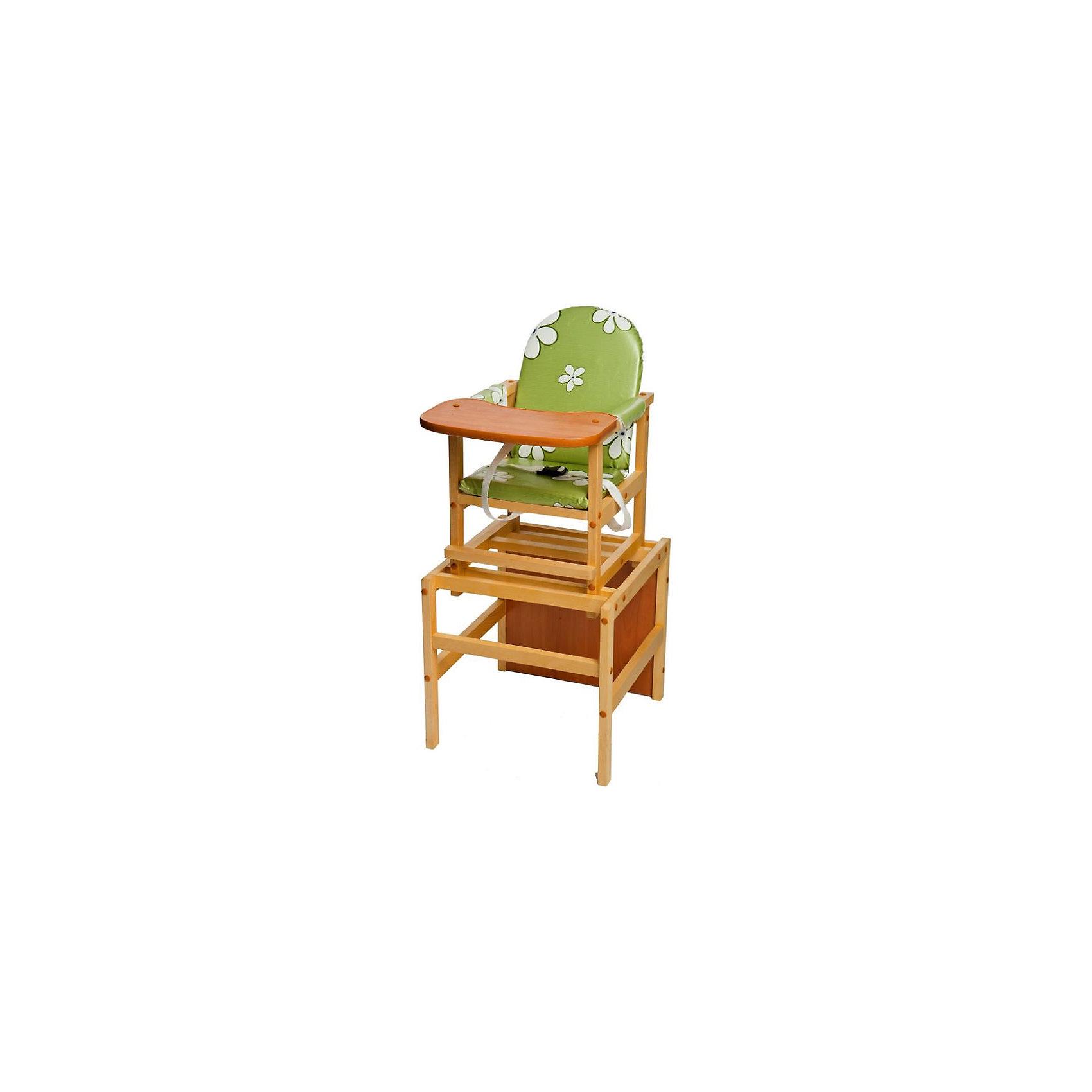 ПМДК Стульчик-трансформер Октябренок Ромашки, ПМДК, зеленый стул пмдк октябренок ромашки violet light 00000045543