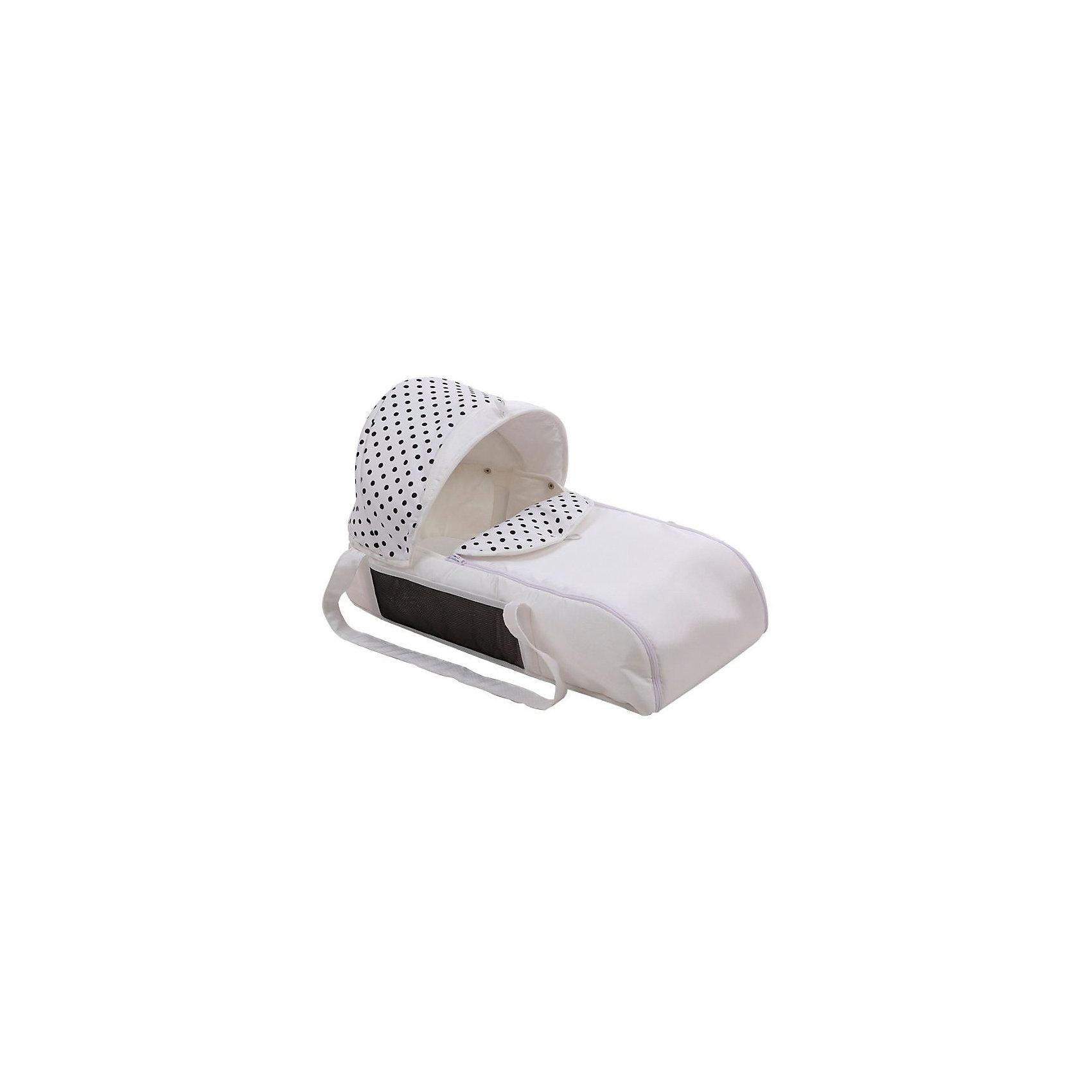 Люлька-переноска для коляски АЛИСА, Лео, белый