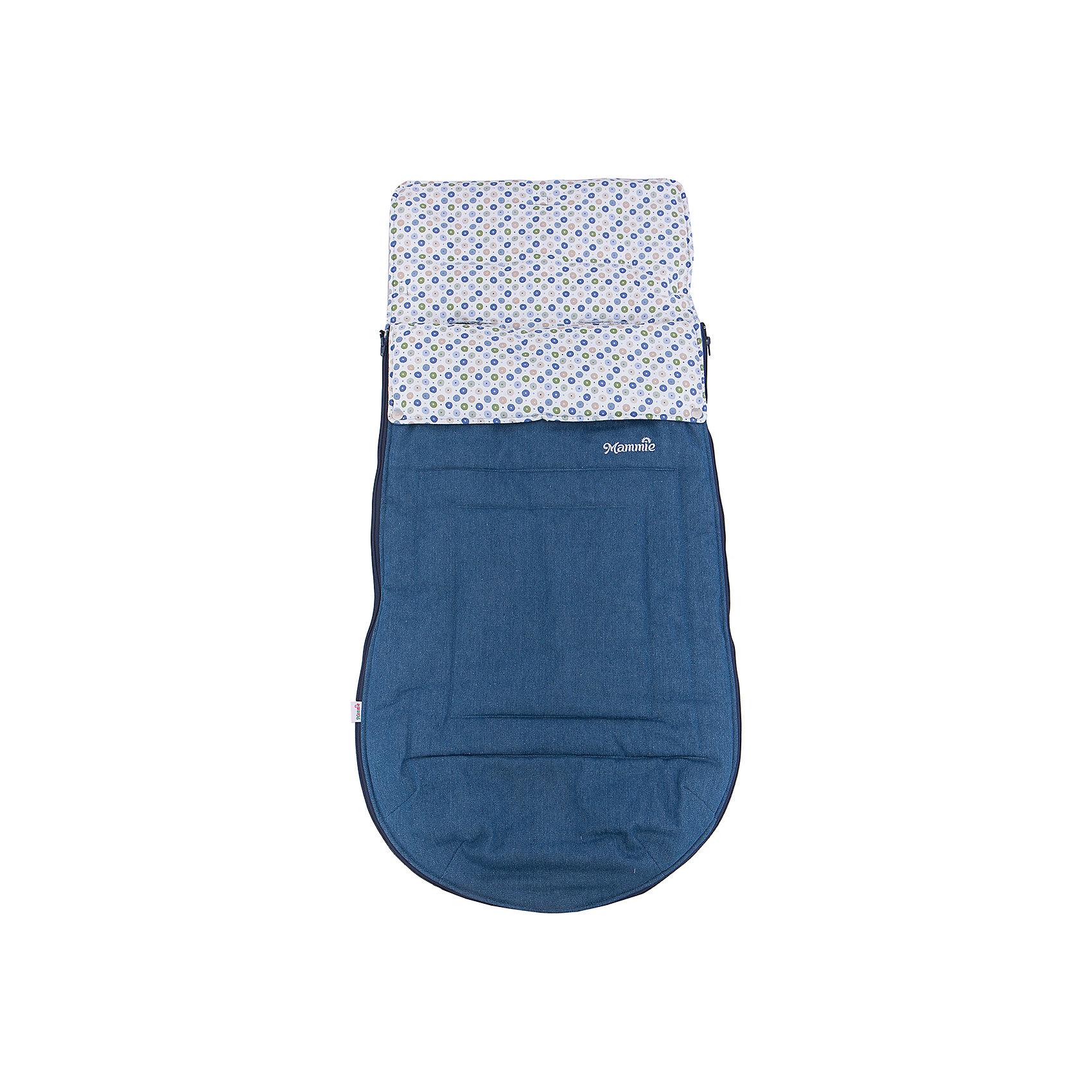 Конверт-трансформер хлопковый, Mammie, голубой