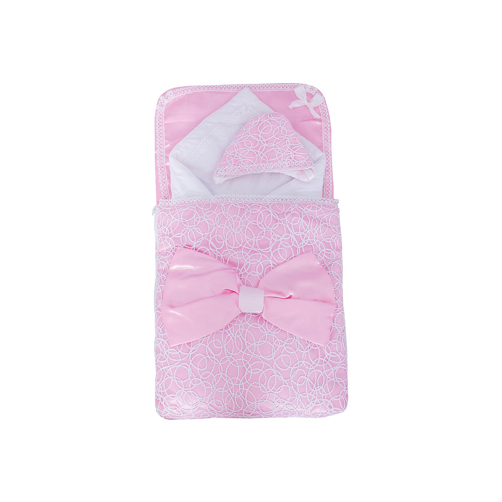Арго Комплект на выписку 3 пред. АЖУР, Арго, розовый арго комплект на выписку арго 8 пред лето синтепон пл 100 розовый