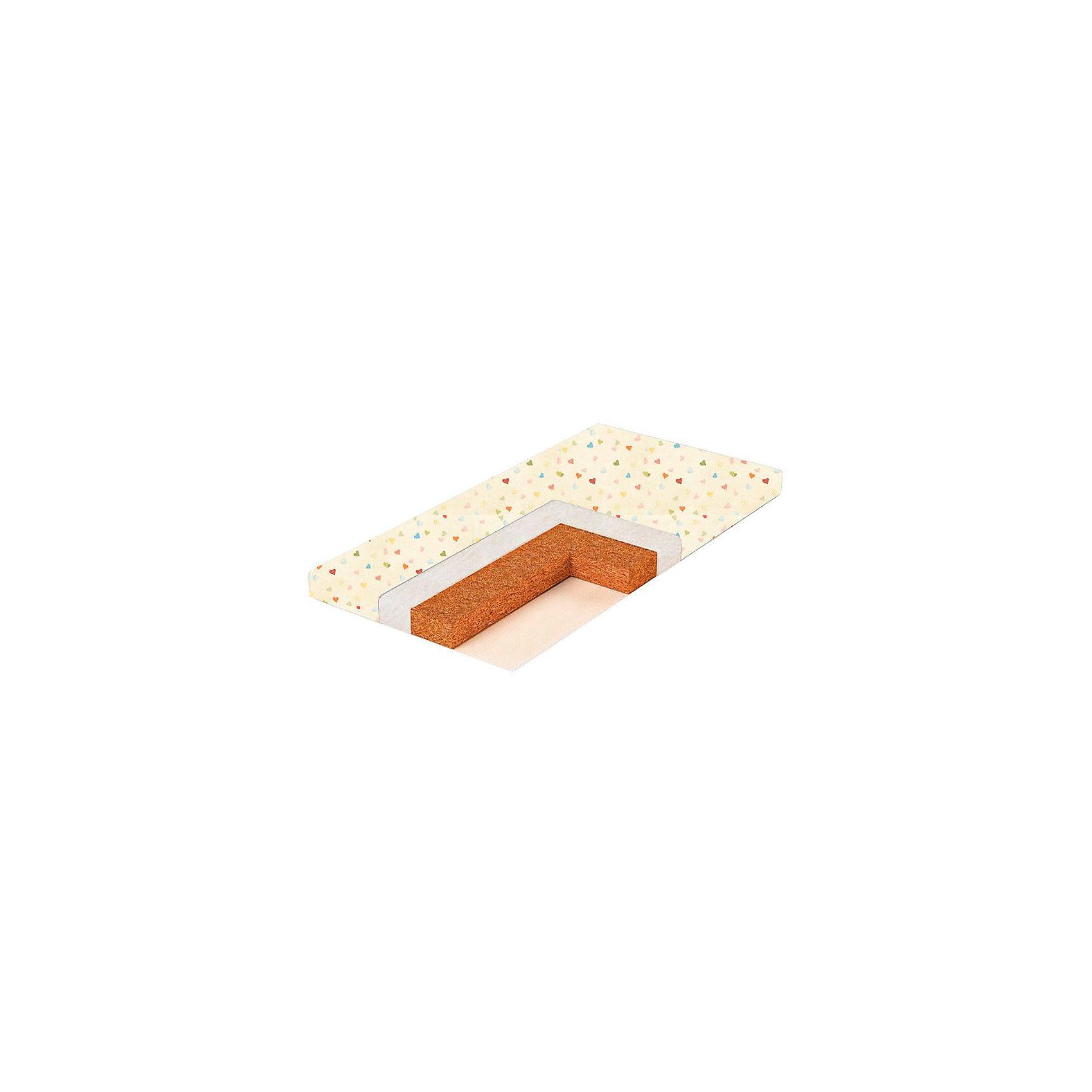 Матрас в кроватку COIR NATURE 6, BamBolaМатрасы<br>С первых дней жизни здоровье малыша напрямую зависит от полноценного и комфортного сна. Этот матрасик разработан специально для малышей. Его можно использовать для детской кроватки. В основе - латексированная кокосовая койра, это экологичный, упругий, жесткий материал, обладает исключительными антиаллергическими и антибактериальными свойствами: не впитывает запахи и влагу, не гниет, отлично пропускает воздух и регулирует температуру, к тому же не деформируется, гарантирует правильное формирование позвоночника ребенка. Также в составе - синтепоновое волокно.<br>Чехол сделан из бязи (хлопок), она отлично пропускает воздух, легко впитывает и хорошо испаряет влагу. Матрасы BamBola – здоровый сон Вашего малыша!<br><br>Дополнительная информация:<br><br>материал: бязь, кокосовая койра, синтепоновое волокно;<br>двусторонний;<br>симметричный;<br>беспружинный;<br>размер: 119х59х6 см.<br><br>Матрас в кроватку COIR NATURE 6 от компании BamBola можно купить в нашем магазине.<br><br>Ширина мм: 1190<br>Глубина мм: 590<br>Высота мм: 60<br>Вес г: 3500<br>Возраст от месяцев: 0<br>Возраст до месяцев: 36<br>Пол: Унисекс<br>Возраст: Детский<br>SKU: 4720121