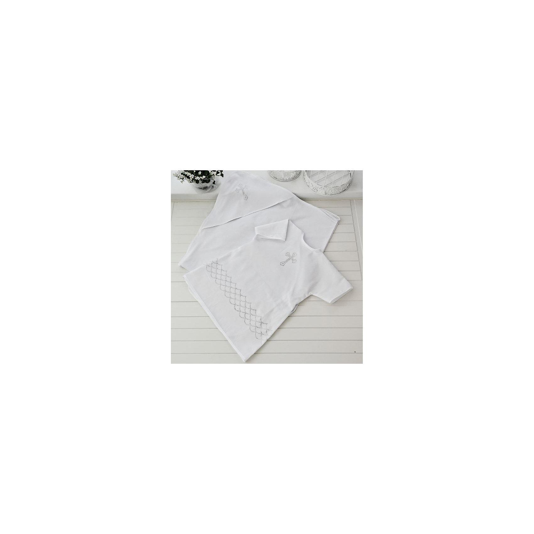 Крестильный комплект 2 пред. 62-68р., Арго, белыйКрестильные наборы<br>Момент крещения ребенка - один из самых трогательных. Сделать его более торжественным поможет красивый крестильный комплект. Он состоит из двух предметов, это: удобная нарядная крестильная рубашка из сатина с запахом на спине, подол которой украшен стразами, и пеленка с уголком из мягкого трикотажа.<br>Смотрится набор очень красиво. Материалы подобраны специально для новорожденных. Они гипоаллергенны, пропускают воздух, не вызывают раздражения.<br><br>Дополнительная информация:<br><br>цвет: белый;<br>материал: сатин, трикотаж - 100% хлопок;<br>комплектация: рубашка и пеленка;<br>размер: 62-68 см;<br>возраст: 0-6 месяцев.<br><br>Крестильный комплект 2 пред. 62-68р, белый, от компании Арго можно купить в нашем магазине.<br><br>Ширина мм: 500<br>Глубина мм: 500<br>Высота мм: 100<br>Вес г: 50<br>Возраст от месяцев: 0<br>Возраст до месяцев: 6<br>Пол: Унисекс<br>Возраст: Детский<br>SKU: 4720135