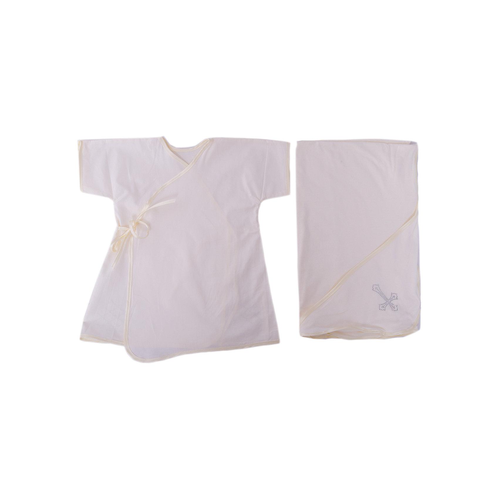 Крестильный комплект 2 пред. 62-68р., Арго, шампаньКрестильные наборы<br>Момент крещения ребенка - один из самых трогательных. Сделать его более торжественным поможет красивый крестильный комплект. Он состоит из двух предметов, это: удобная нарядная крестильная рубашка из сатина с запахом на спине, подол которой украшен стразами, и пеленка с уголком из мягкого трикотажа.<br>Смотрится набор очень красиво. Материалы подобраны специально для новорожденных. Они гипоаллергенны, пропускают воздух, не вызывают раздражения.<br><br>Дополнительная информация:<br><br>цвет: шампань;<br>материал: сатин, трикотаж - 100% хлопок;<br>комплектация: рубашка и пеленка;<br>размер: 62-68 см;<br>возраст: 0-6 месяцев.<br><br>Крестильный комплект 2 пред. 62-68р, шампань, от компании Арго можно купить в нашем магазине.<br><br>Ширина мм: 500<br>Глубина мм: 500<br>Высота мм: 100<br>Вес г: 50<br>Возраст от месяцев: 0<br>Возраст до месяцев: 6<br>Пол: Унисекс<br>Возраст: Детский<br>SKU: 4720137