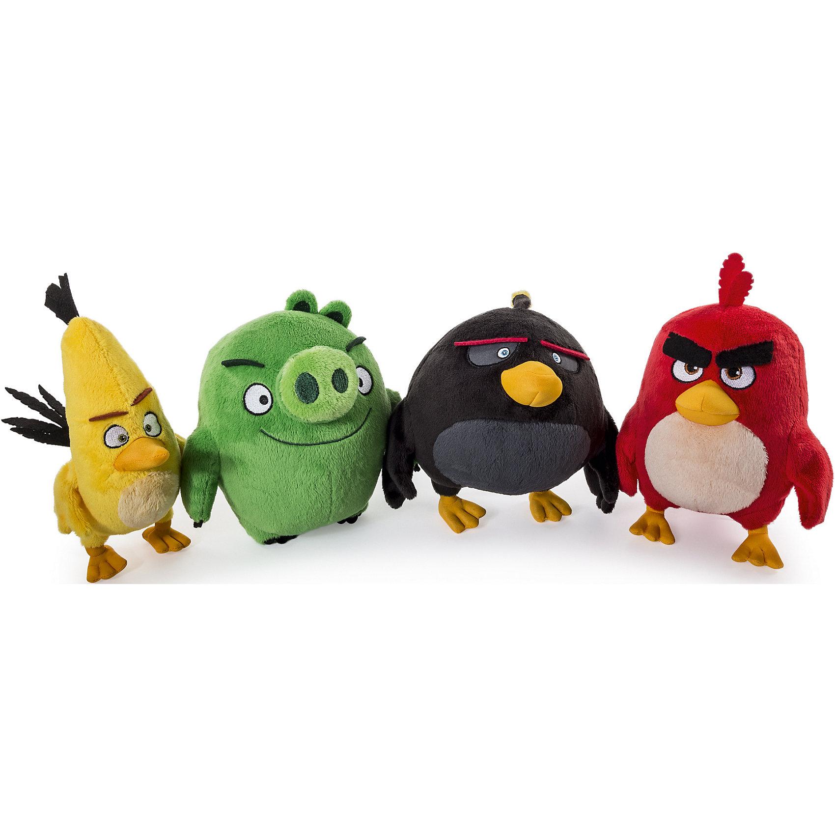 - Плюшевая птичка 20см, Angry Birds angry birds мяг игр 20см желтая птица и игрушка подвеска с клипом 7см