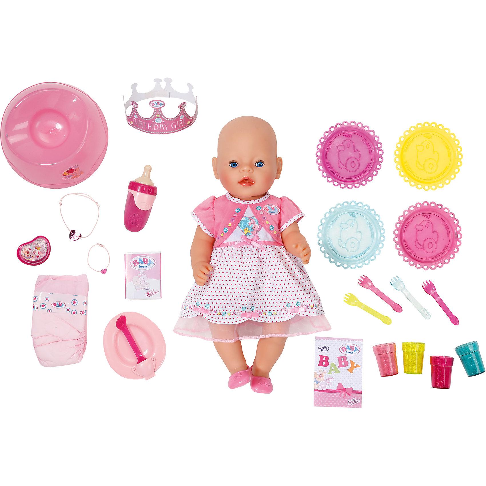 Zapf Creation Интерактивная кукла Праздничная, 43 см, BABY born кукла zapf creation baby born сестричка 43 см