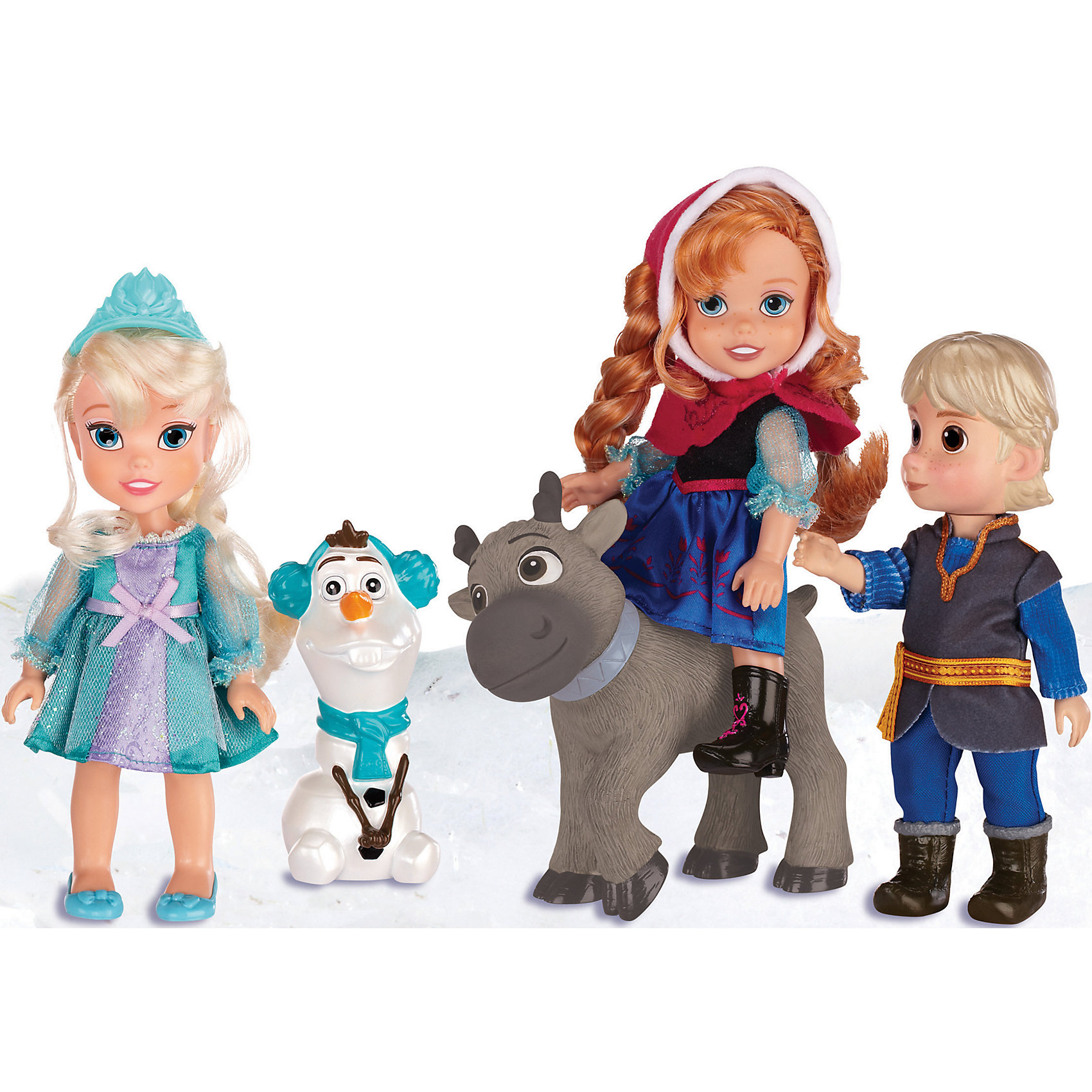Disney Игровой набор 5 кукол, 15 см, Холодное Сердце hasbro набор кукол холодное сердце анна и кристоф