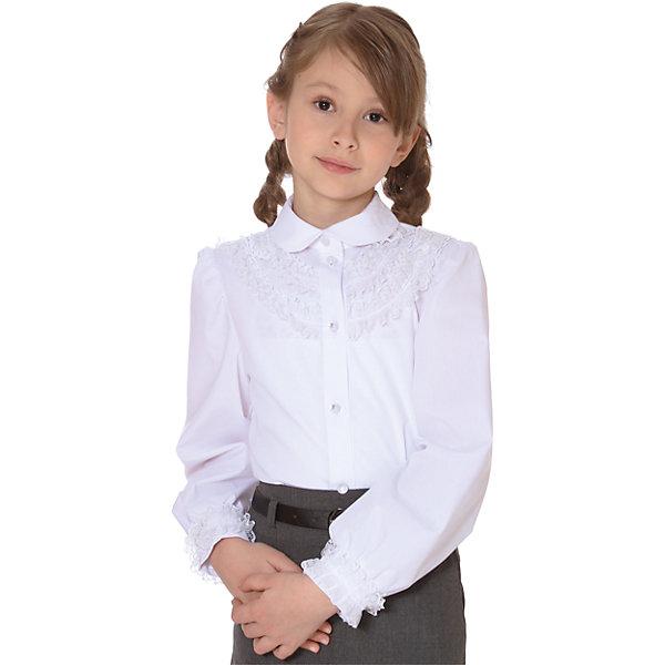 Блузка для девочки СменаБлузки и рубашки<br>Блузка для девочки от известного бренда Смена<br><br>Состав:<br>35%-хлопок;65%-полиэстер<br>Ширина мм: 186; Глубина мм: 87; Высота мм: 198; Вес г: 197; Цвет: белый; Возраст от месяцев: 144; Возраст до месяцев: 156; Пол: Женский; Возраст: Детский; Размер: 158,140,122,128,134,146,152; SKU: 4720317;