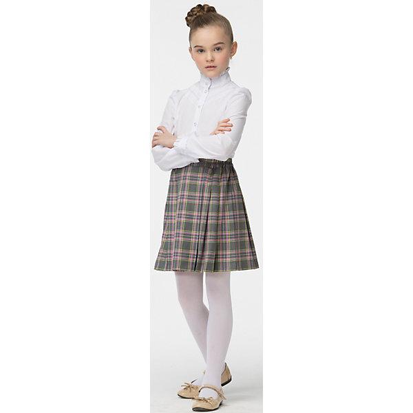 Блузка для девочки СменаБлузки и рубашки<br>Блузка для девочки от известного бренда Смена<br>Строгая элегантная блузка с длинными рукавами и воротником - стойкой. Отделка декоративной кружевной тесьмой и оборочками по воротнику и манжетам придаёт блузке нарядный вид<br>Состав:<br>60%-хлопок;40%-полиэстер<br>Ширина мм: 186; Глубина мм: 87; Высота мм: 198; Вес г: 197; Цвет: белый; Возраст от месяцев: 72; Возраст до месяцев: 84; Пол: Женский; Возраст: Детский; Размер: 122,158,152,146,140,134,128; SKU: 4720406;