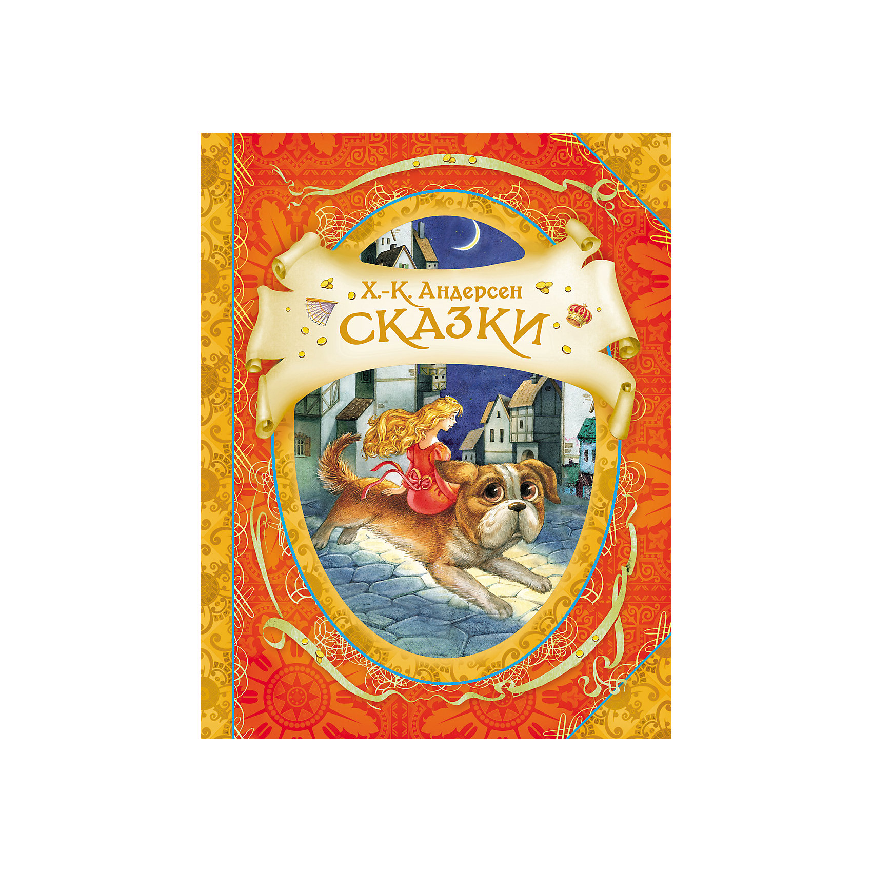 Сказки, Х.-К. АндерсенАндерсен Г.Х.<br>В книгу вошли самые известные и любимые произведения великого сказочника: «Огниво»,  «Дюймовочка», «Гадкий утёнок»,  «Свинопас», «Новое платье короля», «Снежная королева». &#13;<br>Тексты издаются без сокращений в классических переводах А. Ганзен, Т. Габбе, А. Любарской. &#13;<br>Красочные иллюстрации художника-графика, иллюстратора детской книги, участника международных выставок  Елены Звольской. &#13;<br>Сказки Андерсена самобытны и выделяются среди произведений других писателей-сказочников:  его истории и герои не взяты из фольклора, а придуманы им самим. И хотя в сказках много печали и грусти, благодаря их поэтичности и красоте в душе каждого пробуждаются самые тёплые и светлые чувства.<br><br>Ширина мм: 260<br>Глубина мм: 200<br>Высота мм: 5<br>Вес г: 607<br>Возраст от месяцев: 60<br>Возраст до месяцев: 2147483647<br>Пол: Унисекс<br>Возраст: Детский<br>SKU: 4720551