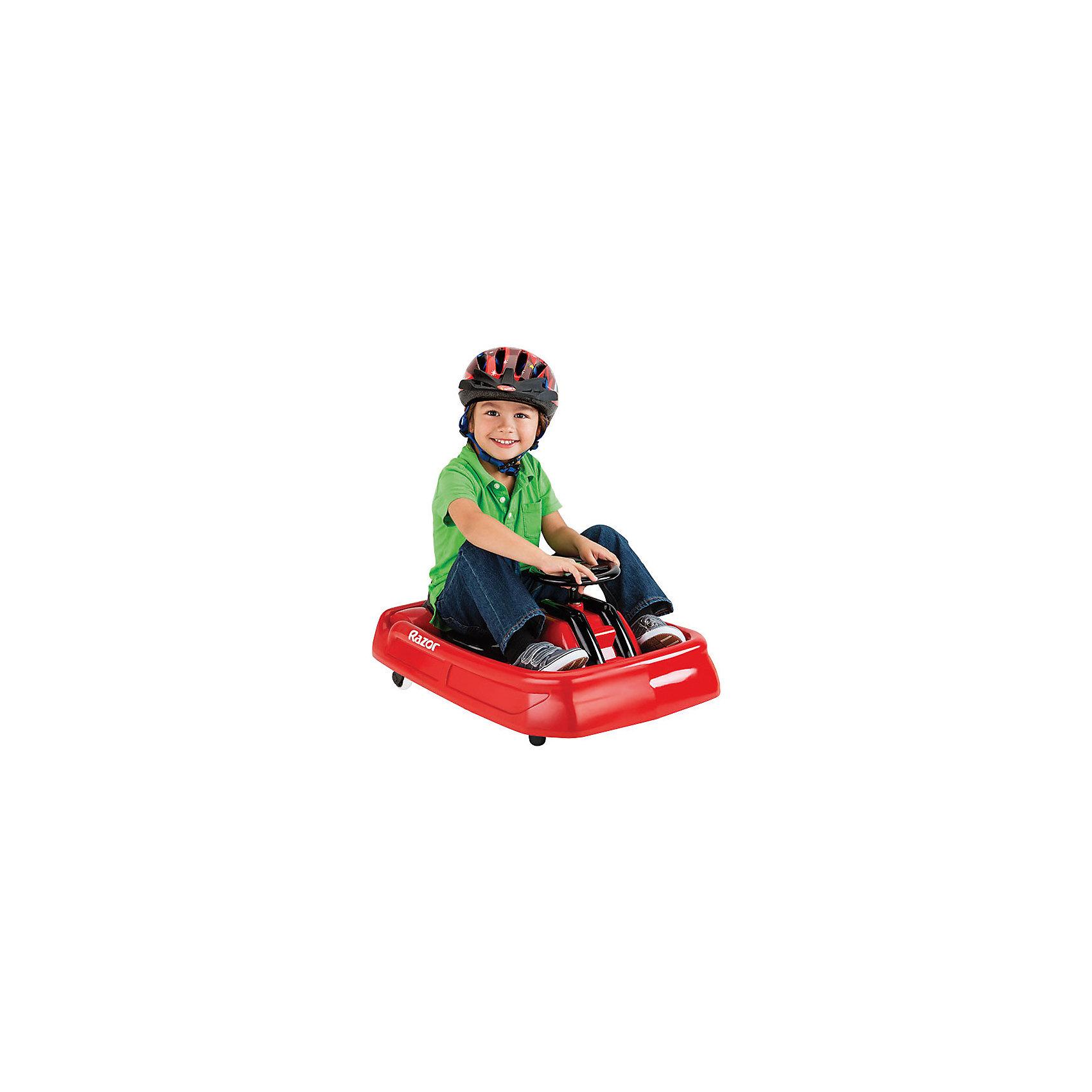 Электро дрифт-карт Lil Crazy, красный, RazorCrazy Cart, теперь доступен в меньшем размере, для самых маленьких экстремалов, которые только готовы освоить дрифт, скорость, вращения и движение боком. Этот карт специально разработан для юных гонщиков, имеет адаптивное управление и небольшую скорость в 3,5 км/час.<br><br>Дополнительная информация:<br><br>Для детей ростом от 80 до 120 см.<br>Максимальная скорость 3,5 км/час<br>Максимальная нагрузка 20 кг.<br>Запас хода на 40 минут<br>Адаптированный мотор для маленьких райдеров<br>АКБ свинцово-кислотные на 6В<br>Педаль активации мотора<br>Мягкая резина для комфортной езды<br>Помогает стимулировать и развивать координацию<br>Ширина LilCrazy 47 см, общая длина 69 см.<br>Требуется частичная сборка<br><br>Электро дрифт-карт Lil Crazy, красный, Razor можно купить в нашем магазине.<br><br>Ширина мм: 690<br>Глубина мм: 470<br>Высота мм: 350<br>Вес г: 3000<br>Возраст от месяцев: 24<br>Возраст до месяцев: 2147483647<br>Пол: Унисекс<br>Возраст: Детский<br>SKU: 4720633