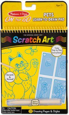 Melissa & Doug Набор Гравюр Домашние Животные , Scratch Art