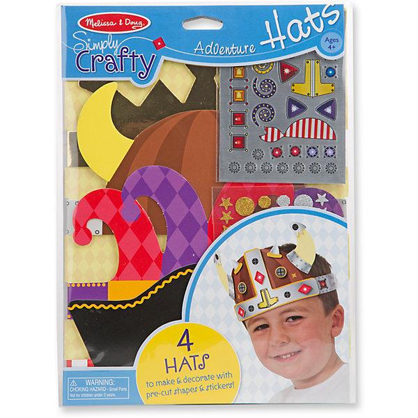 Набор для создания головных уборов Приключения шляпыДетские шляпы и колпаки<br>Набор для творчества Приключения шляпы - включает в себя всё необходимое, для создания и оформления четырех ярких и фантастических головных уборов. Ребенок сможет создать четыре невероятные приключенческие шляпы, так, как ему захочется, а  добавив многослойный эффект, получится что-то экстра- особенное!<br><br>Дополнительная информация: <br><br>-Комплектация: 4 основы головного убора, 34 блестящие наклейки, 39 блестящих наклеек, 80 нарезанных декоративных форм, липкая пена 200 квадратов.<br>-Размер упаковки: 22х1х30<br>-Вес в упаковке: 113 г<br><br>Такой творческий набор замечательно развивает художественные навыки, фантазию, воображение и мелкую моторику рук. <br><br>Набор для создания головных уборов Приключения шляпыможно купить в нашем магазине.<br><br>Ширина мм: 220<br>Глубина мм: 10<br>Высота мм: 300<br>Вес г: 113<br>Возраст от месяцев: 48<br>Возраст до месяцев: 180<br>Пол: Мужской<br>Возраст: Детский<br>SKU: 4720644