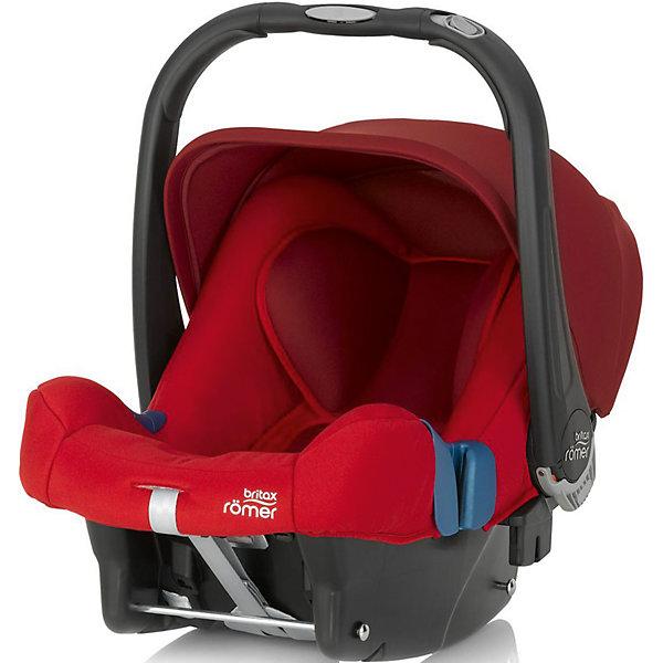 Автокресло Britax Romer Baby-Safe Plus SHR II, 0-13 кг, Flame RedГруппа 0+  (до 13 кг)<br>Автокресло Baby-Safe Plus SHR II, Britax Roemer, обеспечит комфорт и безопасность маленького пассажира во время поездки в автомобиле. Прочный каркас кресла имеет удобную анатомическую форму, съемные мягкие вставки в области головы и спины новорожденного создают дополнительный комфорт. Подголовник регулируется по высоте в 7 положениях, имеется встроенная система изменения наклона для перевода в горизонтальное положение для новорожденных. Кресло оснащено регулируемыми 5-точечными ремнями безопасности с возможностью регулировки по высоте и мягкими плечевыми накладками. Ударопрочный корпус и уникальная запатентованная система боковой защиты D-SIP уберегут ребёнка от серьезных травм. Козырек защищает от солнца и ветра и обладает защитой от УФ-излучения 50+. Благодаря специальной системе крепления автокресло легко и надежно фиксируется при помощи штатных ремней безопасности. Устанавливать автокресло следует лицом против движения авто. Возможна установка с базой BABY-SAFE Belted Base или BABY-SAFE ISOFIX Base.<br><br>Кресло выполнено в яркой красной расцветке, может использоваться как детская переноска и в качестве кресла-качалки. Имеется удобная ручка для транспортировки, которая может принимать 3 положения. Тканевую обивку из мягкого дышащего материала можно снимать и стирать при щадящем режиме. Автокресло Britax Romer Baby-Safe Plus SHR II может быть установлено на коляски Britax или Hartan, для этого в кресло встроены специальные адаптеры, оснащенные механизмом CLICK &amp; GO. Благодаря удобной системе установки (кнопка фиксации и отстегивания находится на ручке), перестановка происходит очень легко. Рассчитано на детей от 0 до 12 мес., весом 0-13 кг. Соответствует Европейскому Стандарту Безопасности ECE R44/04.     <br><br>Дополнительная информация:<br><br>- Цвет: Flame Red.<br>- Материал: пластик, текстиль.<br>- Возраст: 1-12 мес. (0-13 кг.)<br>- Размер кресла (В х Ш х Г): 57 х 