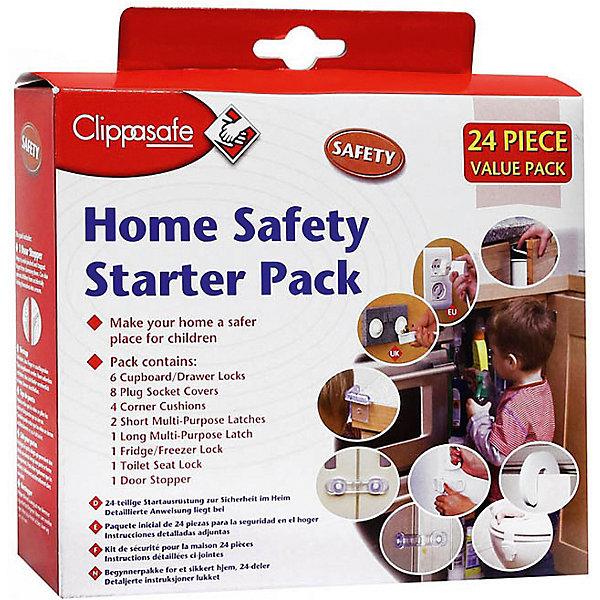 Набор защиты (24 шт.), ClippasafeБлокирующие и защитные устройства для дома<br>Каждый родитель хочет максимально защитить своего ребёнка от небезопасных ударов и повреждений. В этом вам поможет набор защиты (24 шт.), Clippasafe. В наборе есть все для того, чтобы обезопасить передвижение ребёнка по дому.<br><br>В набор входит:<br>-Защита для розеток: 12 шт.<br>- Защита для ящиков: 6 шт.<br>- Накладок защитных на углы: 4 шт.<br>- Универсальный замок для дверей:  1 шт.<br>- Замок для холодильника / морозильника: 1 шт.<br>- Замок на туалет: 1 шт.<br>- Защита двери от захлопывания:1 шт.<br><br>Дополнительная информация:<br>-Марка: Clippasafe<br>Набор защиты (24 шт.), Clippasafe вы можете приобрести в нашем интернет-магазине.<br>Ширина мм: 200; Глубина мм: 200; Высота мм: 100; Вес г: 400; Возраст от месяцев: 0; Возраст до месяцев: 36; Пол: Унисекс; Возраст: Детский; SKU: 4722144;