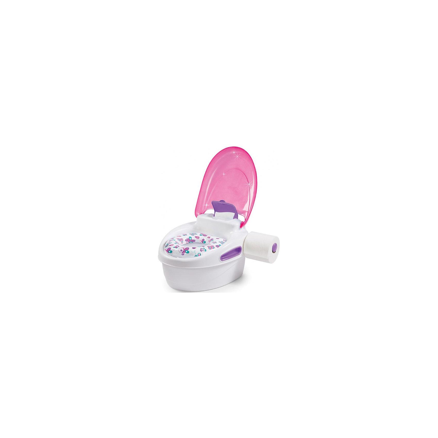 Горшок-подножка 3 в 1, Summer Infant, розовыйГоршок-подножка 3 в 1, Summer Infant, My Fun Potty, обеспечит комфорт и удобство Вашей малышке и поможет ей быстрее приучиться к взрослому унитазу. Горшок состоит из стульчика-подножки, сиденья для унитаза и съемного резервуара. Удобное анатомическое сиденье обеспечивает ребенку максимальный комфорт, а когда малышка подрастет его можно установить на ободок взрослого унитаза. При необходимости горшок с закрывающейся крышкой легко трансформируется в удобную подножку, чтобы ребенок мог достать до раковины или взрослого унитаза. Резиновые основания горшка обеспечивают устойчивость и предотвращают скольжение по полу. Горшок снащен ручками для поддержания равновесия малыша, боксом для хранения влажных салфеток и держателем для туалетной бумаги. Рекомендовано для детей от 18 месяцев до 5 лет.<br><br>Дополнительная информация:<br><br>- Цвет: розовый.<br>- Материал: полипропилен. <br>- Размер горшка в собранном виде: 37 х 32 х 23 см.<br>- Размер подставки: 37 х 32 х 12,5 см.<br>- Вес: 1,2 кг.<br><br>Горшок-подножку 3 в 1, Summer Infant, розовый, можно купить в нашем интернет-магазине.<br><br>Ширина мм: 250<br>Глубина мм: 220<br>Высота мм: 300<br>Вес г: 1500<br>Возраст от месяцев: 9<br>Возраст до месяцев: 36<br>Пол: Женский<br>Возраст: Детский<br>SKU: 4722149