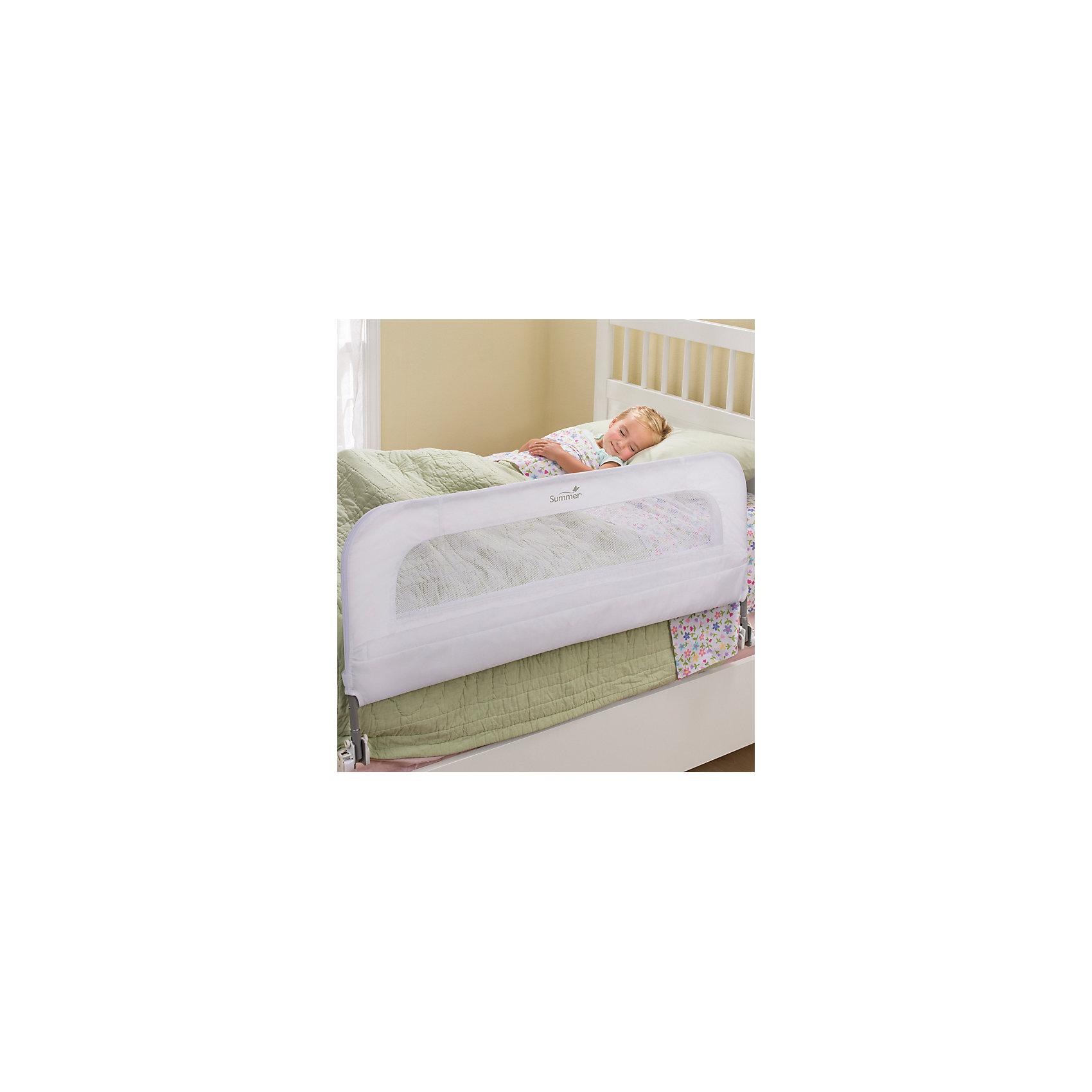 Ограничитель для кровати, Summer Infant, белыйОграничитель для кровати, Summer Infant, обеспечит Вашему малышу комфорт и безопасность при переходе из манежа во взрослую кровать. Простая в использовании конструкция предотвращает сползание ребенка на пол во время сна и гарантирует безопасный и спокойный сон в новой постели. Ограничитель быстро собирается в течение нескольких минут без инструментов. Выполнен из мягкого, но прочного материала, и не имеет деталей, которые могли бы травмировать ребенка. Телескопические крепежные элементы могут регулироваться по длине. При необходимости ограничитель легко складывается вниз для удобного доступа к кровати. Подходит для матрасов с размерами 70-90 х 140-190 см. Соответствует стандартам ASTM. Рекомендовано для детей от 1,5 до 5 лет.<br><br>Дополнительная информация:<br><br>- Цвет: белый.<br>- Материал: металл, пластик, текстиль.<br>- Возраст: 1,5 года - 5 лет.<br>- Размер: 90 х 50 см.<br>- Размер упаковки: 108 х 53,3 х 3,5 см.<br>- Вес: 2,7 кг. <br><br>Ограничитель для кровати, Summer Infant, белый, можно купить в нашем интернет-магазине.<br><br>Ширина мм: 1500<br>Глубина мм: 350<br>Высота мм: 150<br>Вес г: 2700<br>Возраст от месяцев: 24<br>Возраст до месяцев: 60<br>Пол: Унисекс<br>Возраст: Детский<br>SKU: 4722151